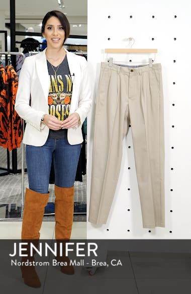 'Classic' Smartcare<sup>™</sup> Relaxed Fit Double Pleated Cotton Pants, sales video thumbnail