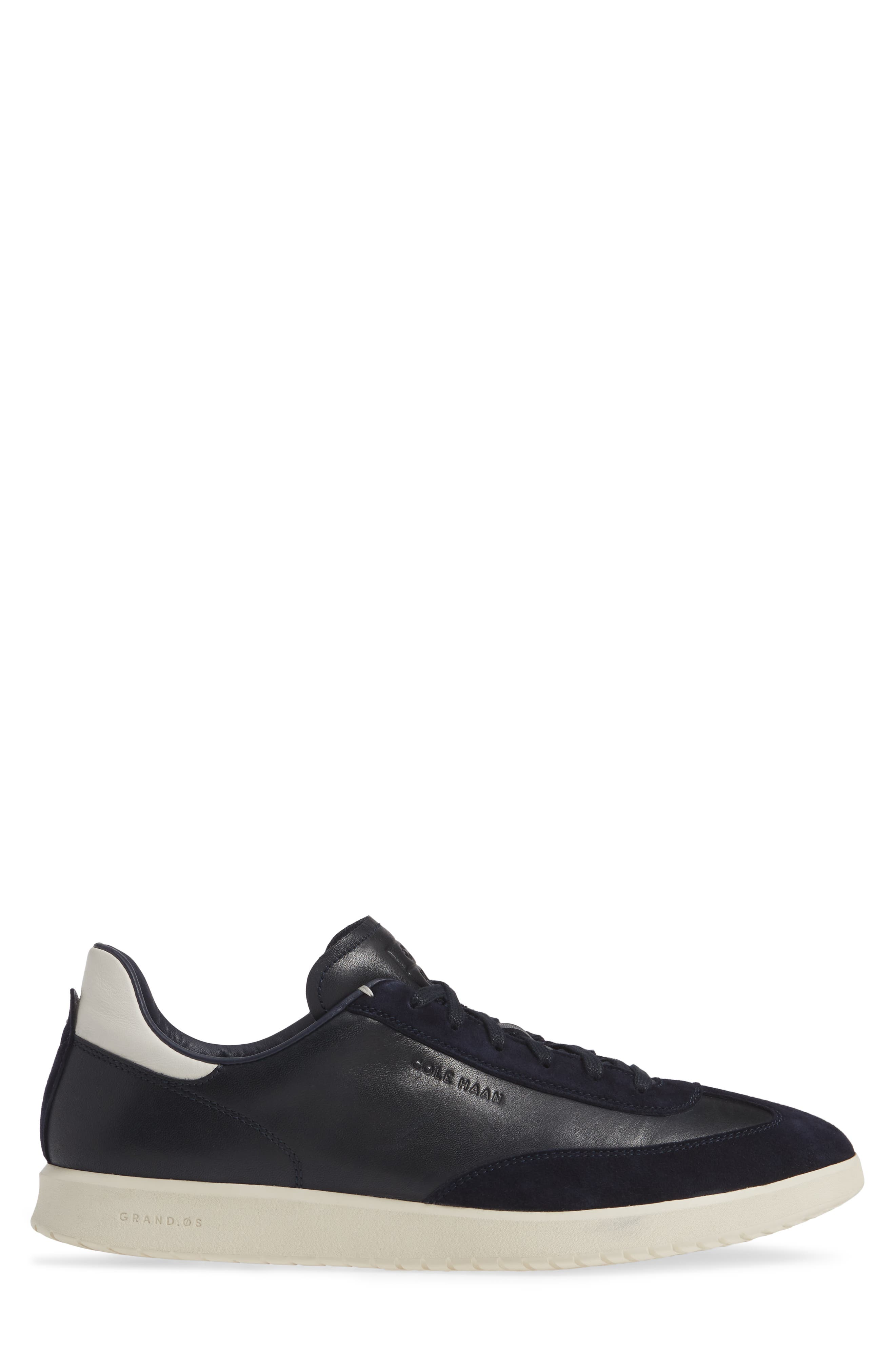 COLE HAAN, GrandPro Turf Sneaker, Alternate thumbnail 3, color, NAVY INK LEATHER