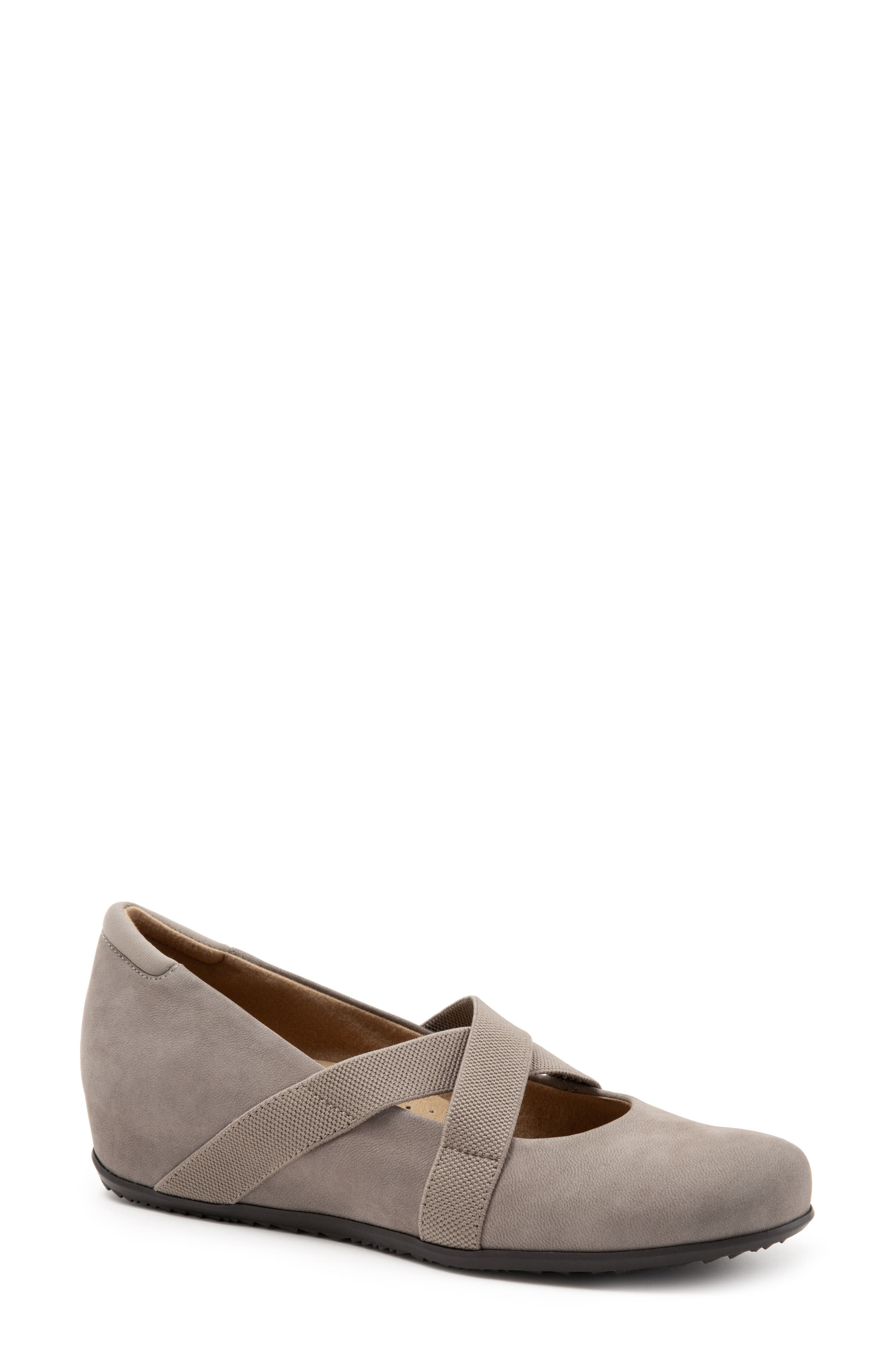 SOFTWALK<SUP>®</SUP>, Waverly Mary Jane Wedge, Alternate thumbnail 8, color, TAUPE LEATHER