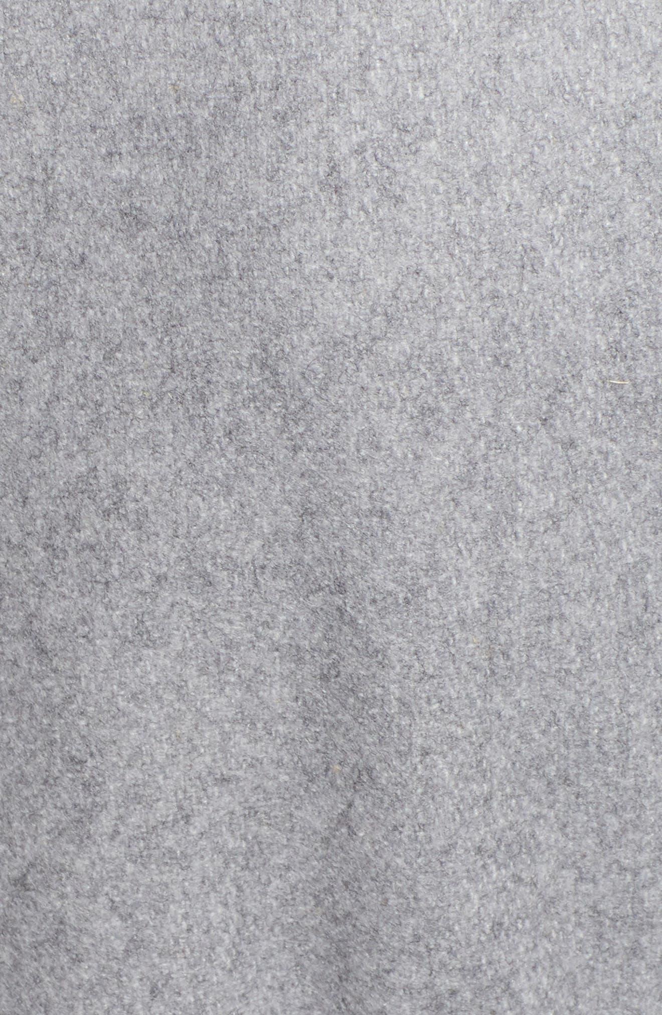TED BAKER LONDON, Wool Blend Long Wrap Coat, Alternate thumbnail 7, color, 030