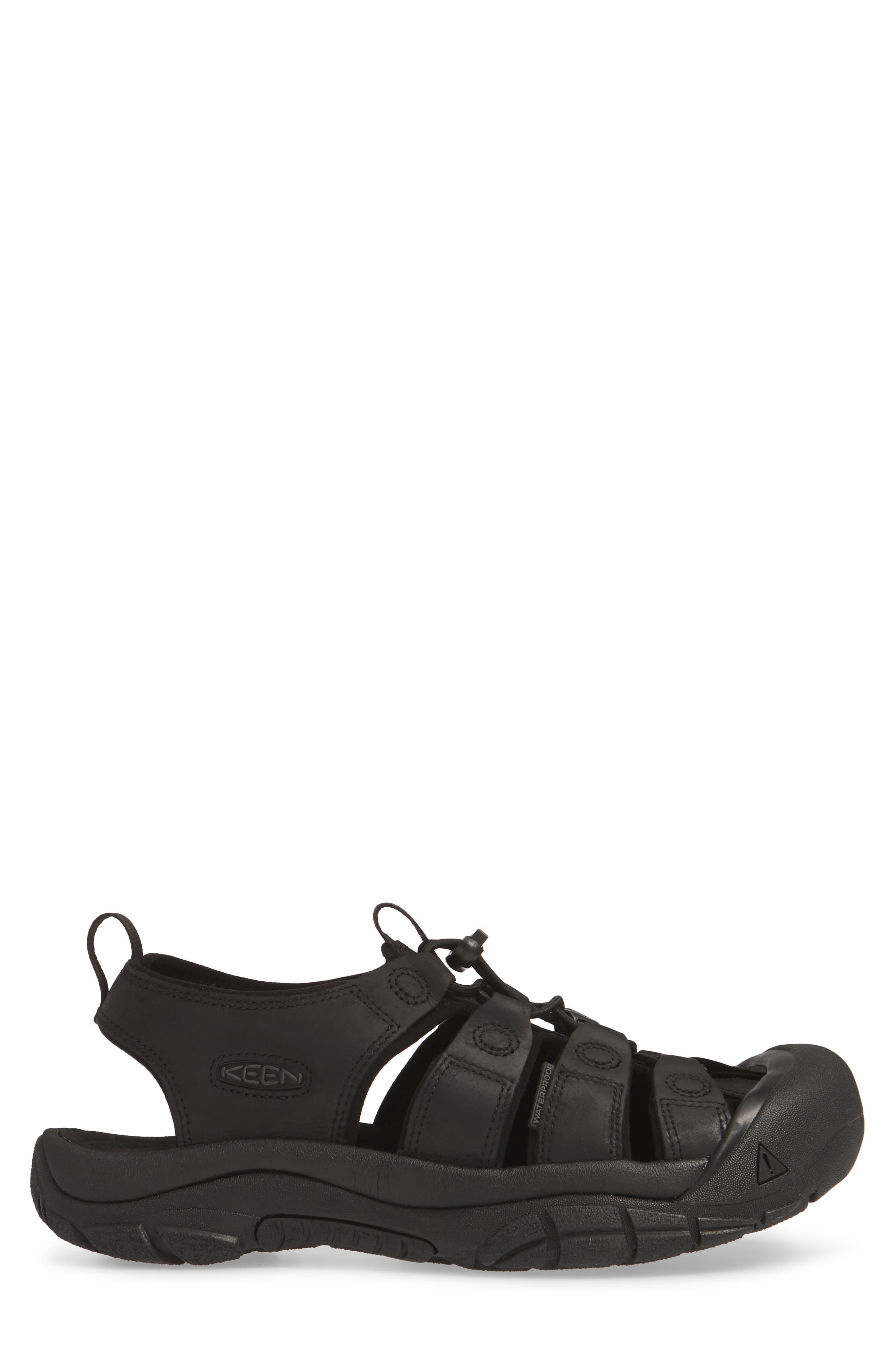 KEEN, 'Newport' Sandal, Alternate thumbnail 3, color, BLACK/ BLACK