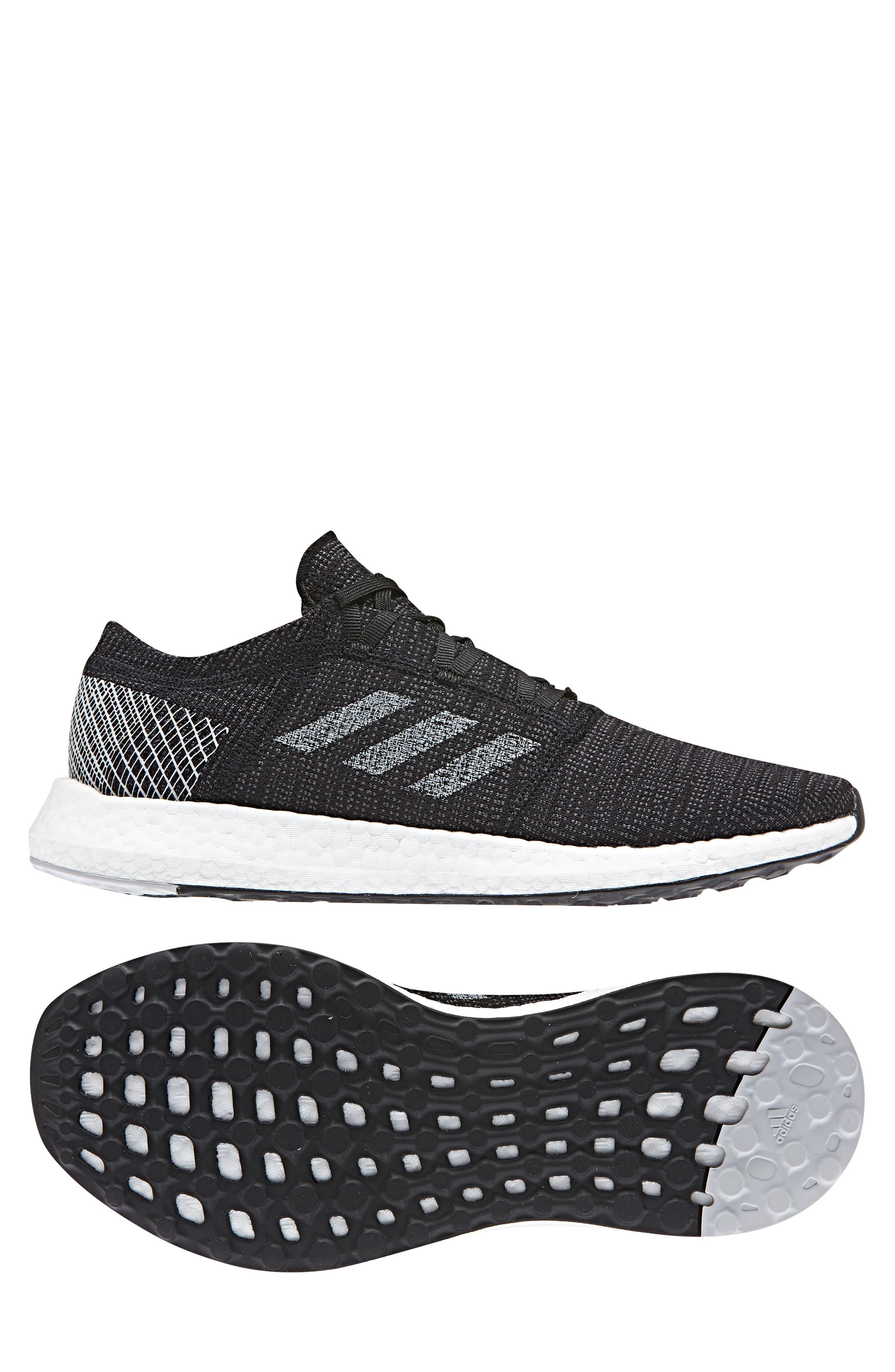 ADIDAS, PureBoost Go Running Shoe, Alternate thumbnail 7, color, CORE BLACK/ GREY