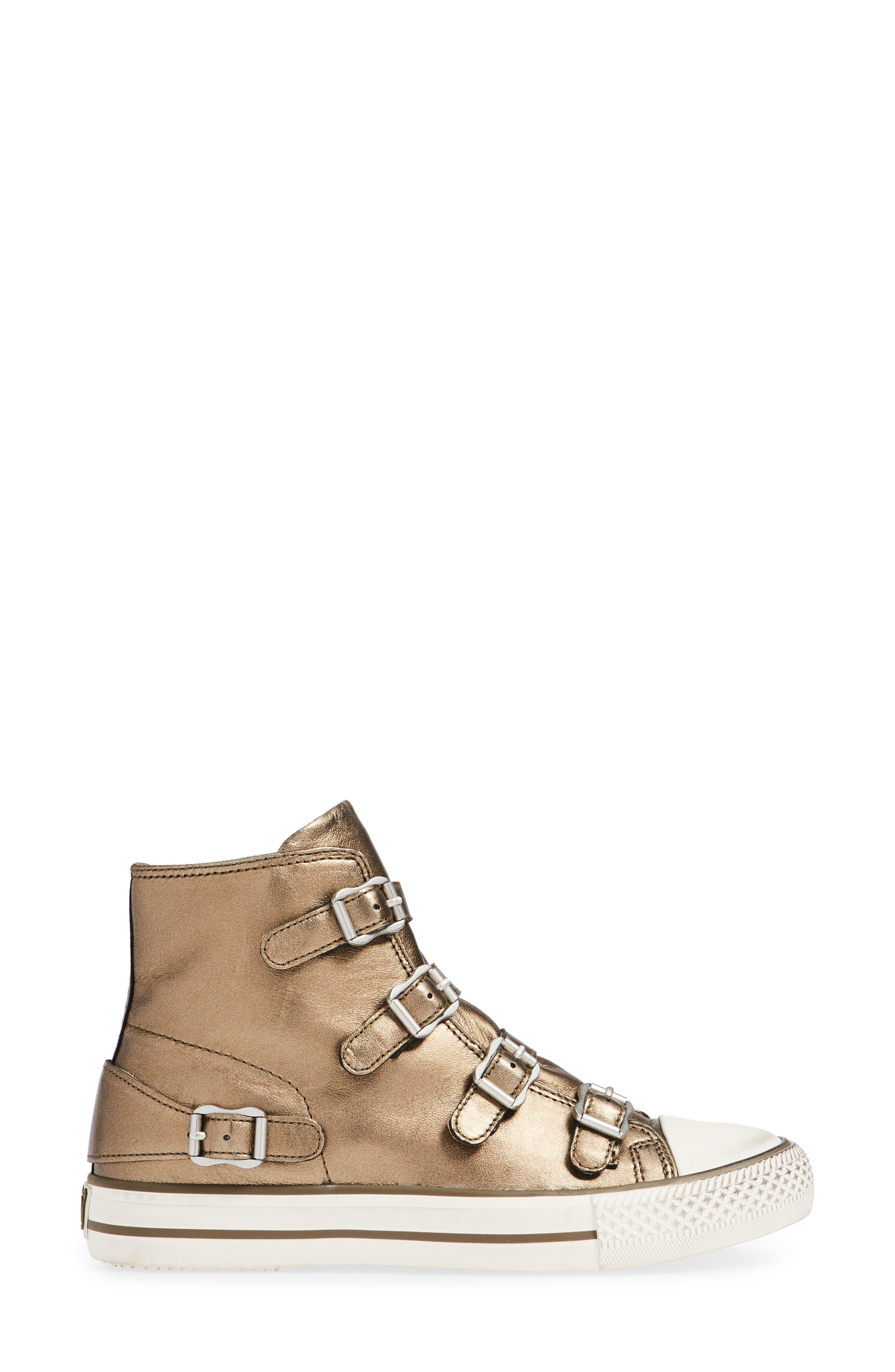 ASH, Virgin Sneaker, Alternate thumbnail 3, color, MOON BRONZE
