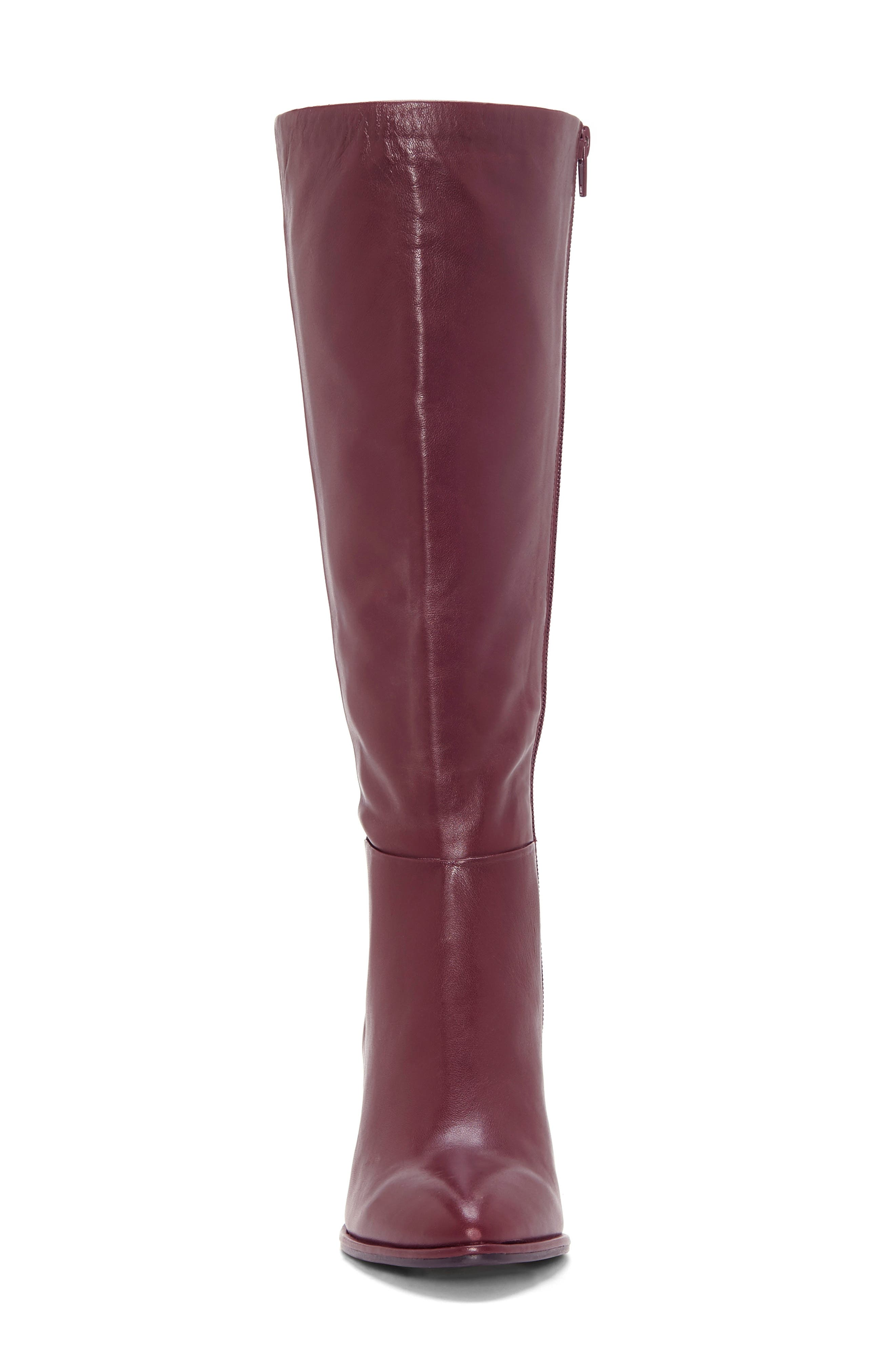 ENZO ANGIOLINI, Wenda Knee High Boot, Alternate thumbnail 4, color, MULLED WINE LEATHER
