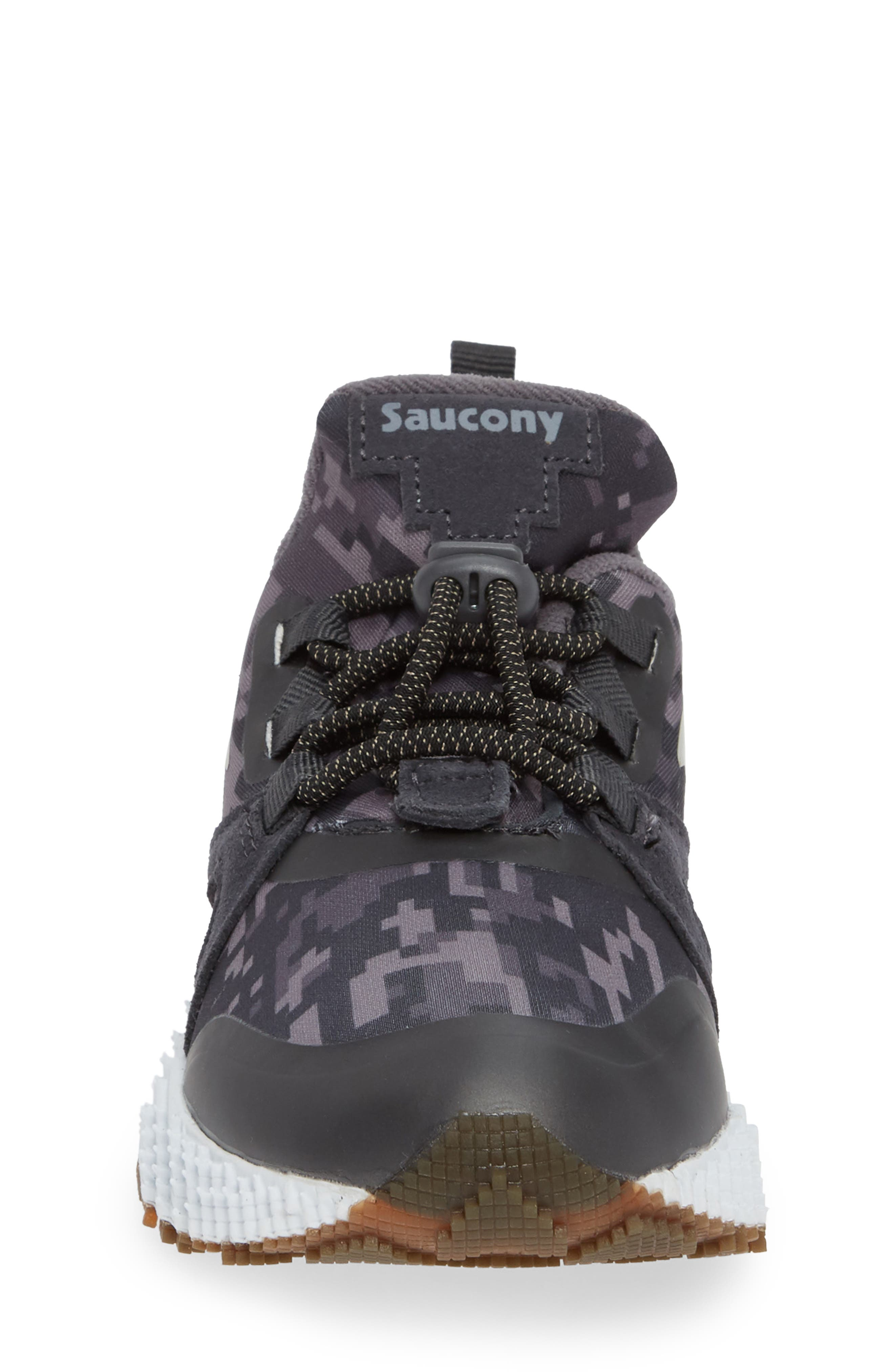 SAUCONY, Voxel 9000 Sneaker, Alternate thumbnail 4, color, GREY LEATHER/ MESH