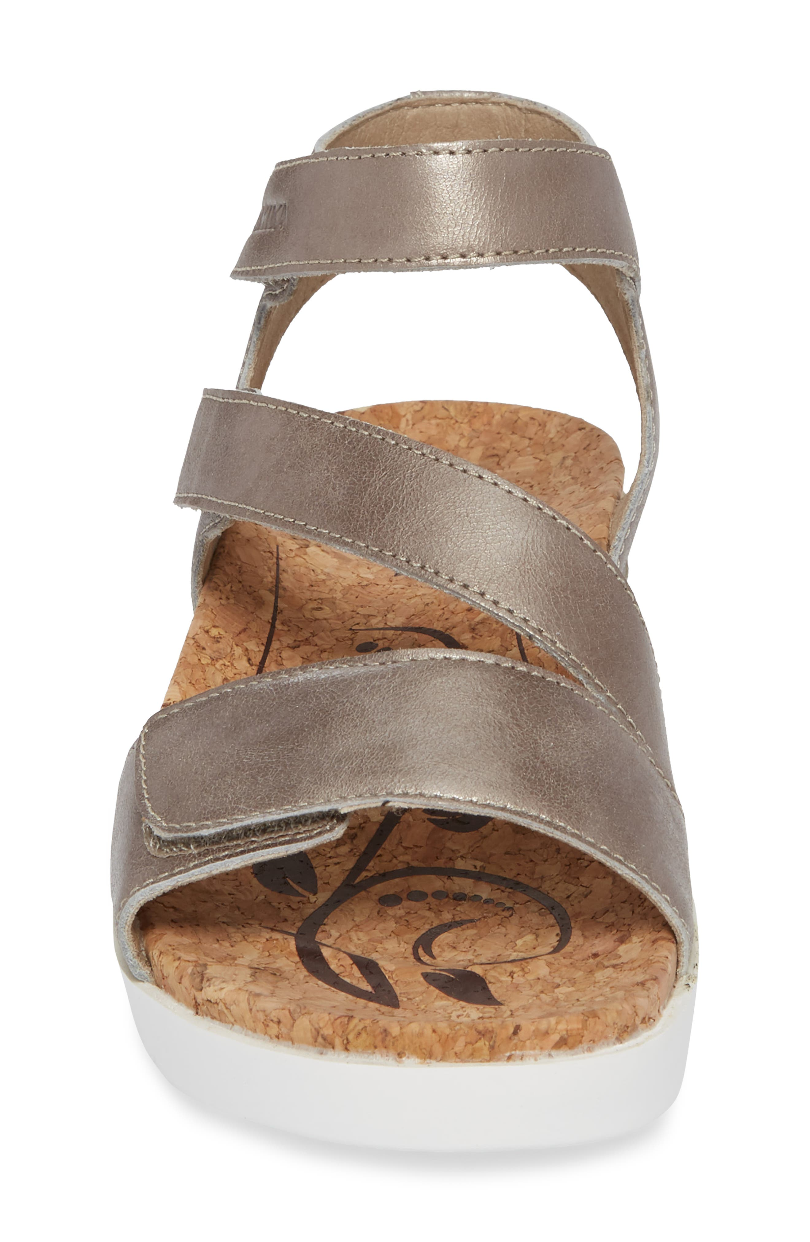 ROMIKA<SUP>®</SUP>, Hollywood 04 Sandal, Alternate thumbnail 4, color, PLATINUM LEATHER