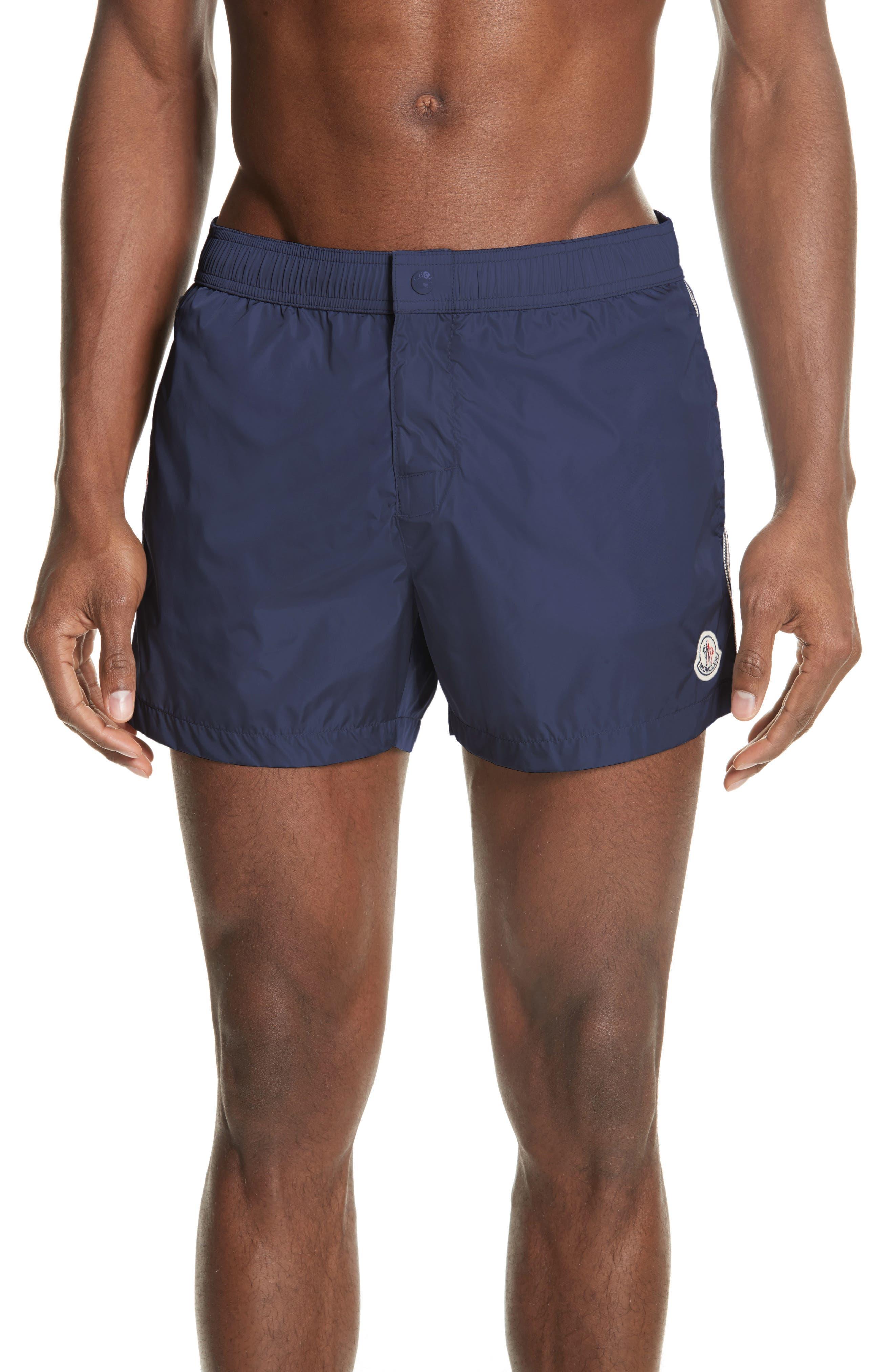 MONCLER, Boxer Mare Swim Shorts, Main thumbnail 1, color, BLUE