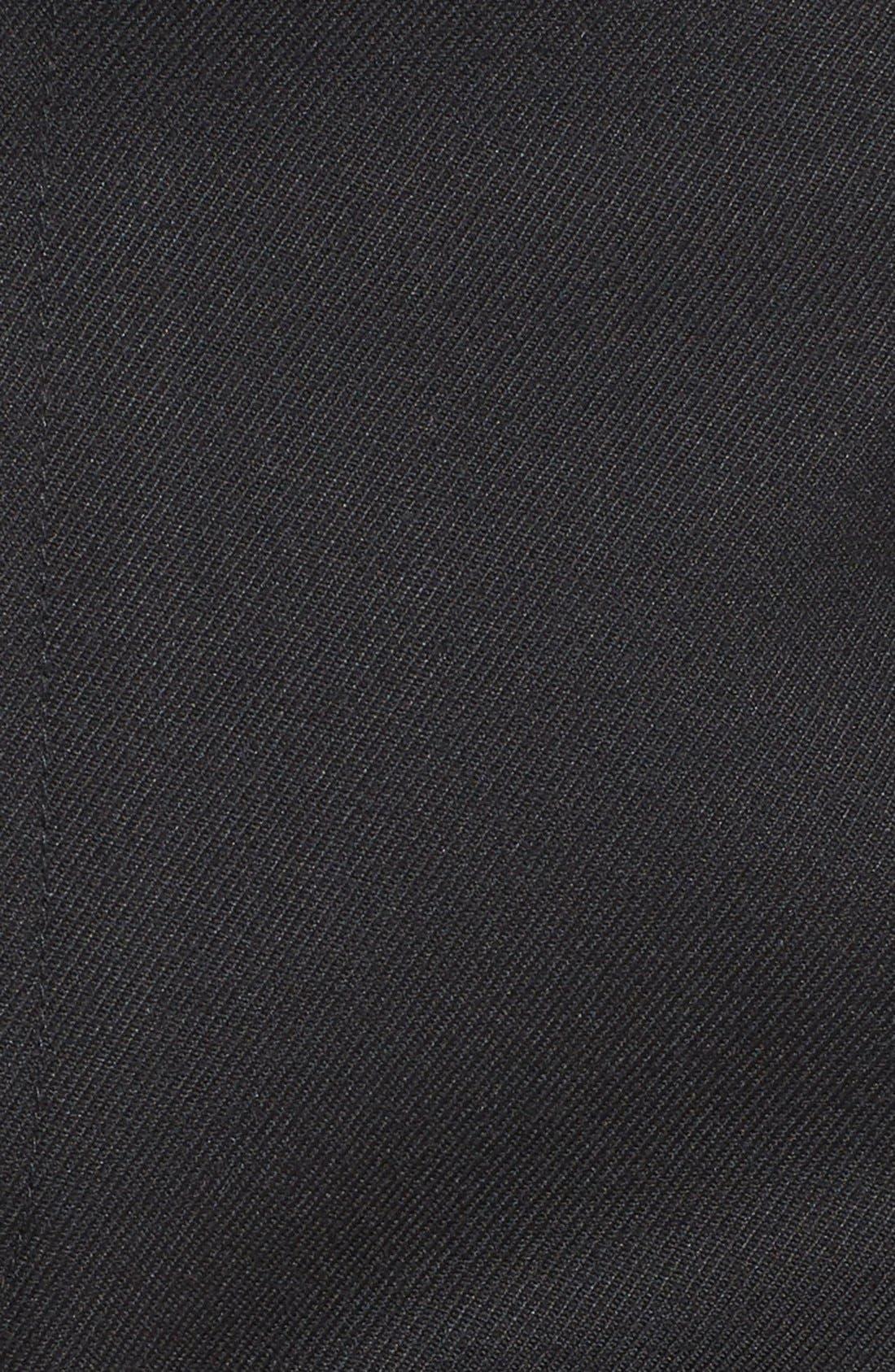 TOPMAN, Skinny Fit Cotton Flannel Trousers, Alternate thumbnail 4, color, 001