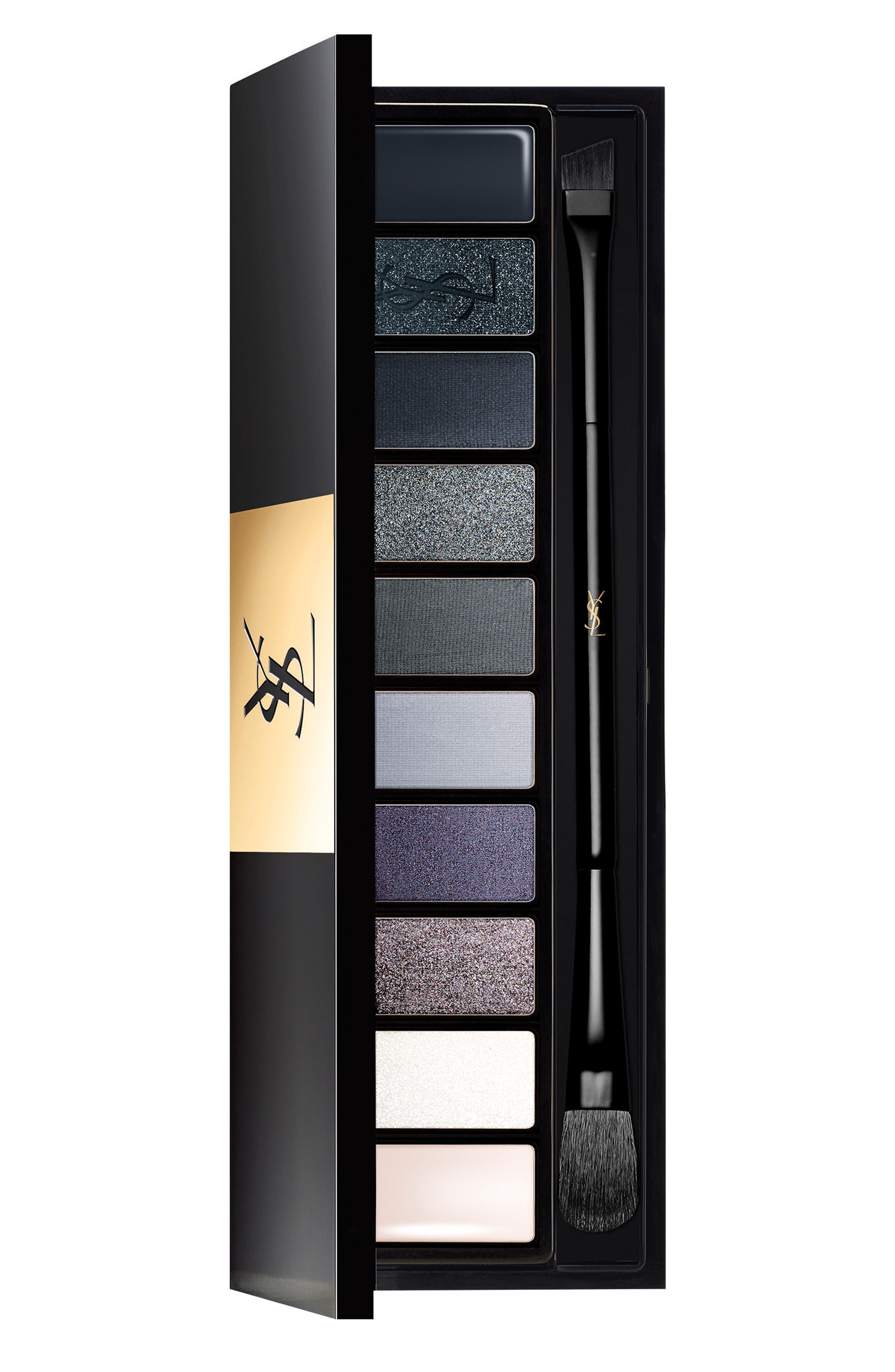 YVES SAINT LAURENT, Underground Couture Variation Ten-Color Expert Eye Palette, Main thumbnail 1, color, UNDERGROUND