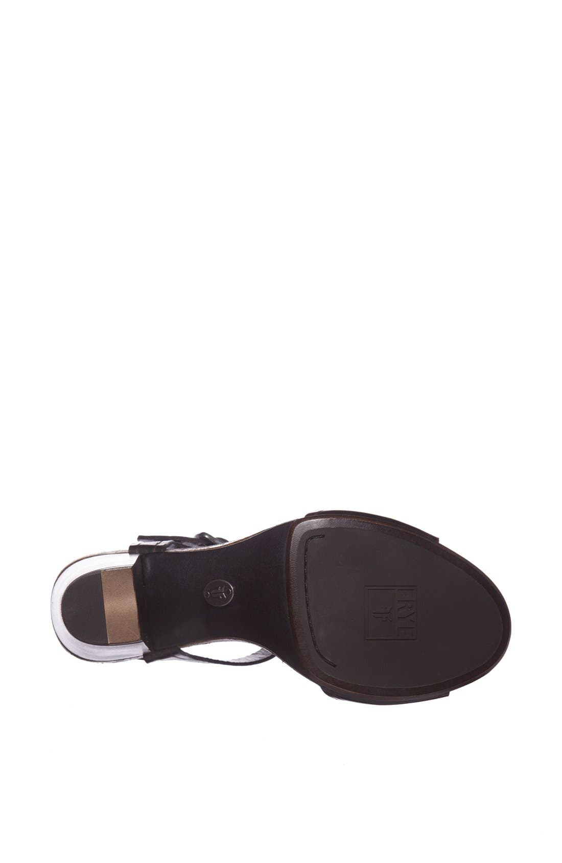 FRYE, 'Silvie' Y-Strap Leather Sandal, Alternate thumbnail 2, color, 001
