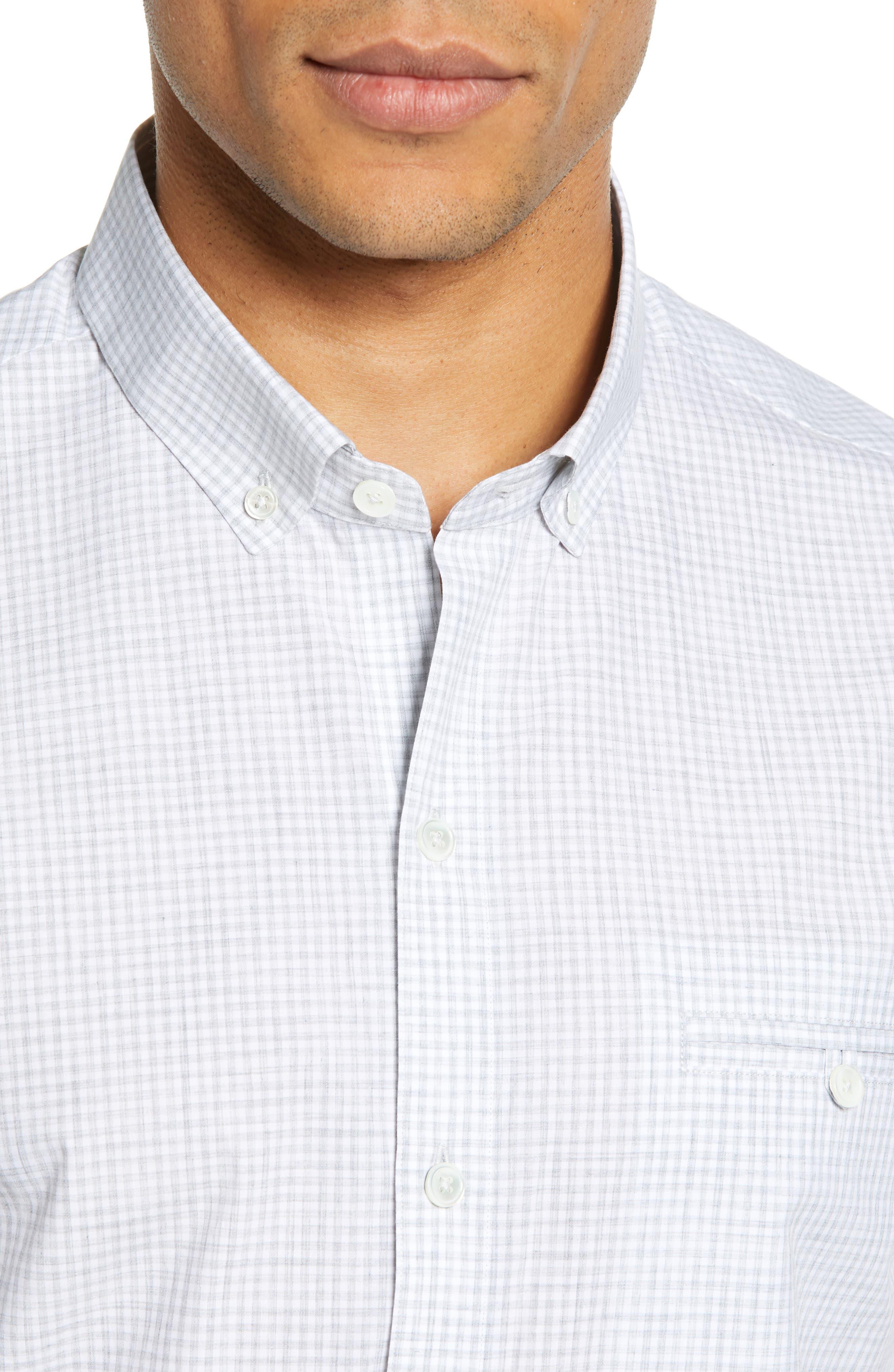 ZACHARY PRELL, Cechini Regular Fit Short Sleeve Sport Shirt, Alternate thumbnail 2, color, LT GREY