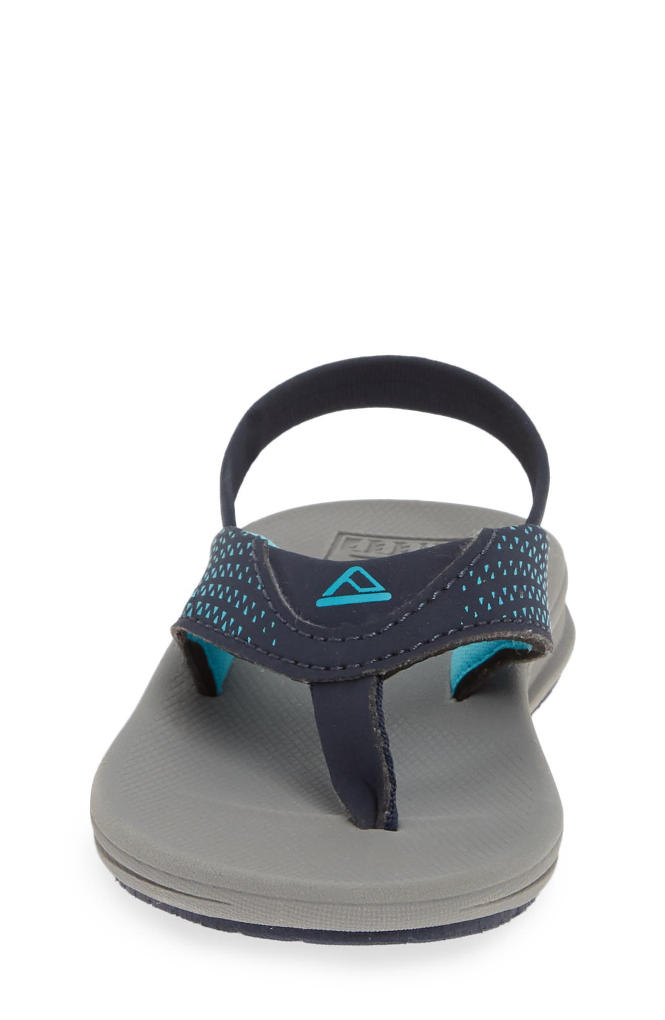 REEF, 'Grom Rover' Water Friendly Sandal, Alternate thumbnail 4, color, GREY/ NAVY