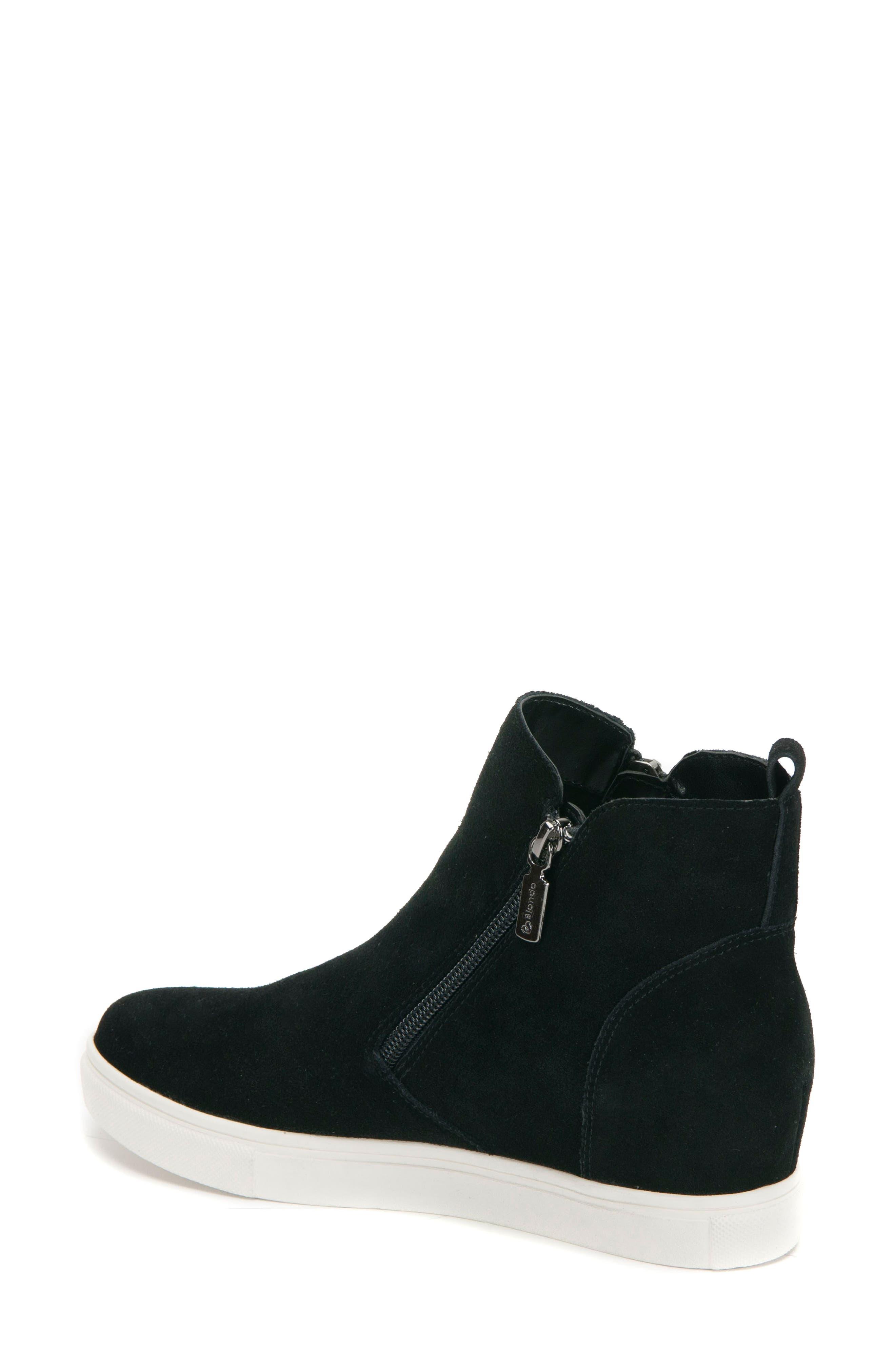 BLONDO, Giselle Waterproof Sneaker, Alternate thumbnail 2, color, BLACK SUEDE