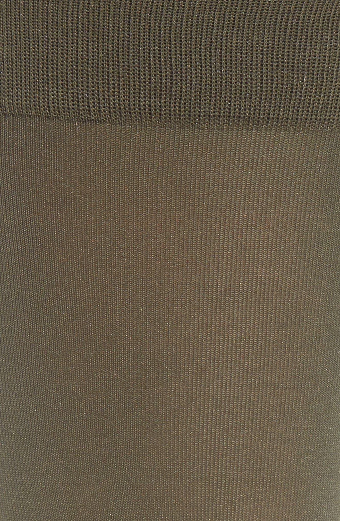 FALKE, Cotton Blend Trouser Socks, Alternate thumbnail 2, color, MILITARY