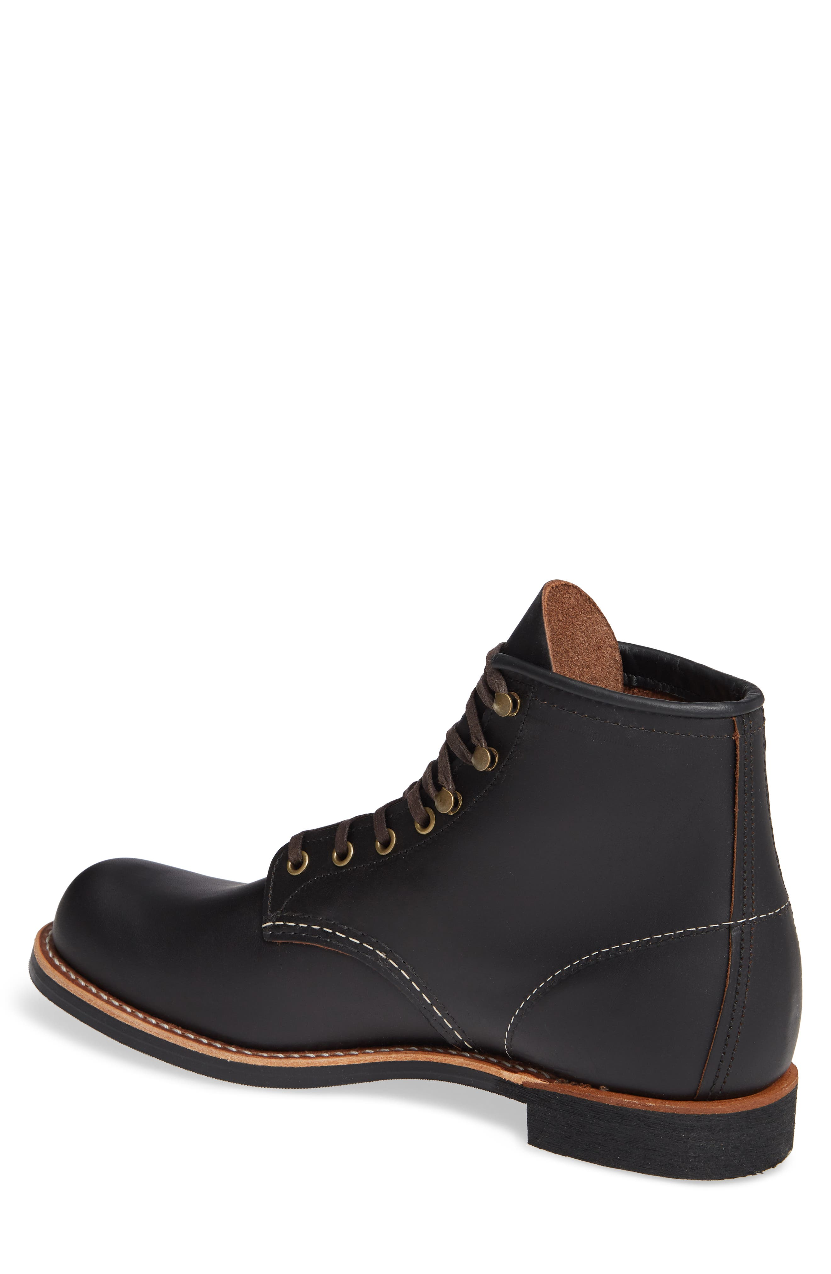 RED WING, Blacksmith Boot, Alternate thumbnail 2, color, BLACK LEATHER