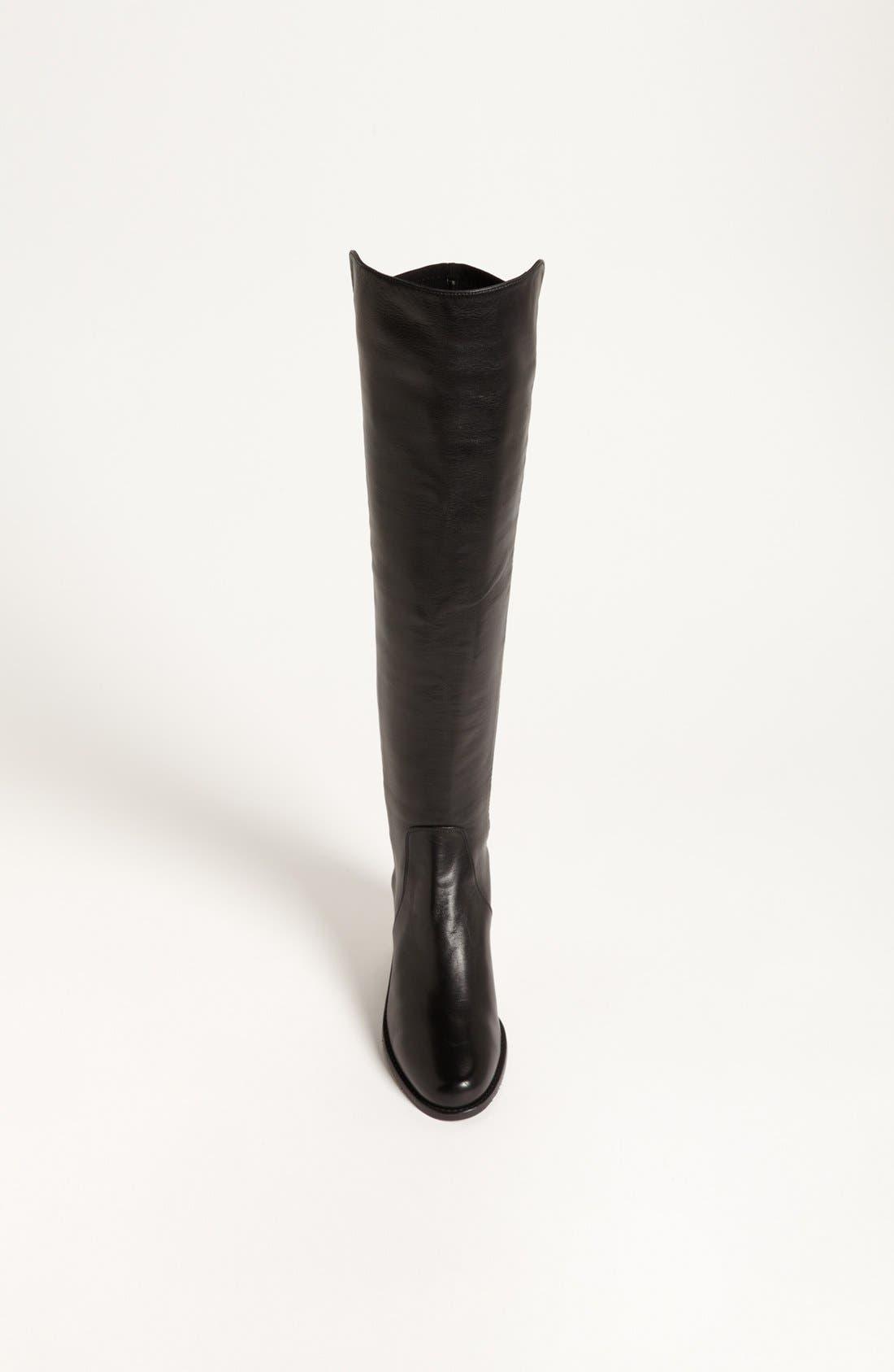 STUART WEITZMAN, 'Reserve' Over the Knee Boot, Alternate thumbnail 8, color, BLACK NAPPA