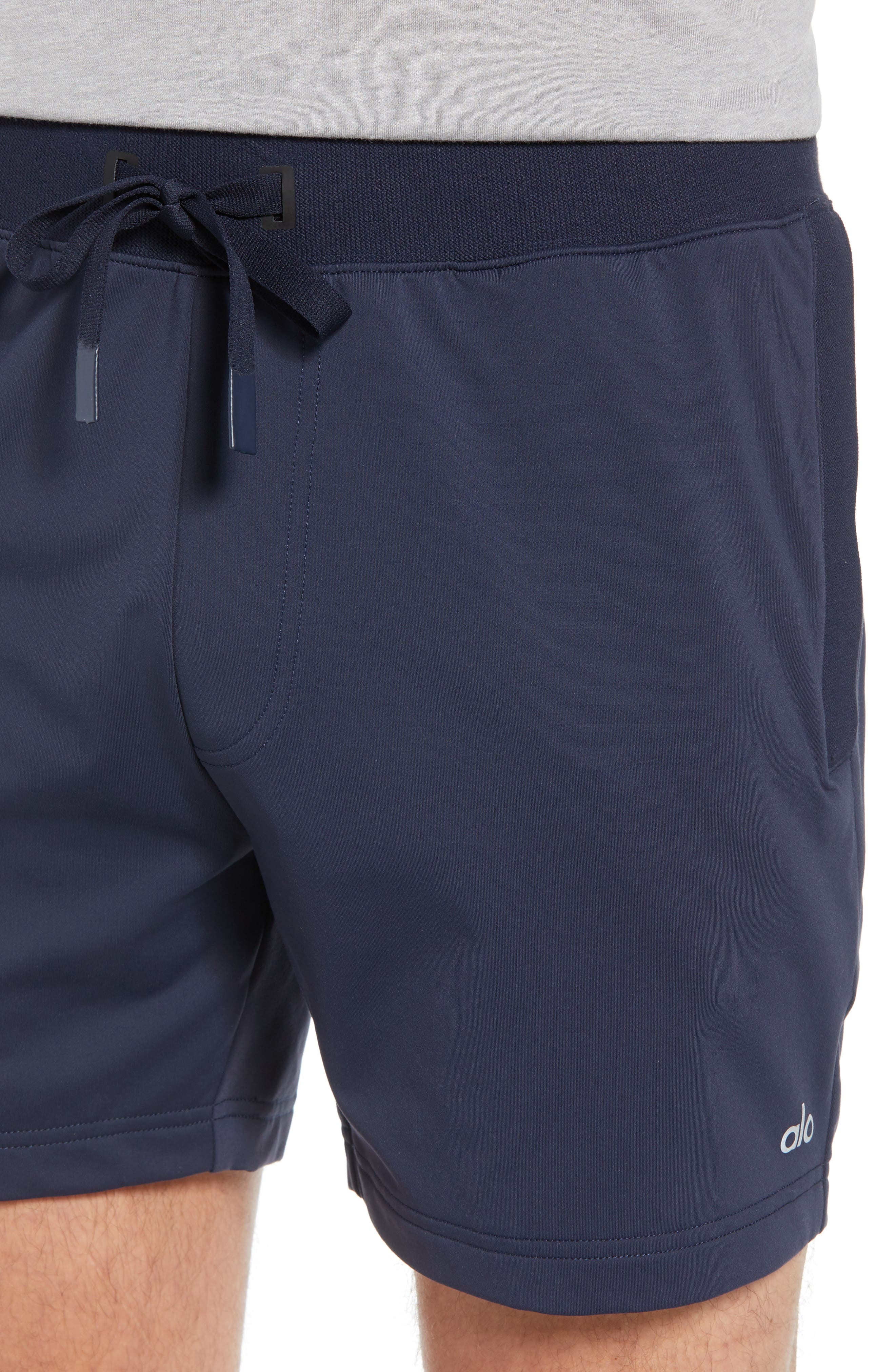 ALO, Regenerate Shorts, Alternate thumbnail 4, color, DARK NAVY TRIBLEND