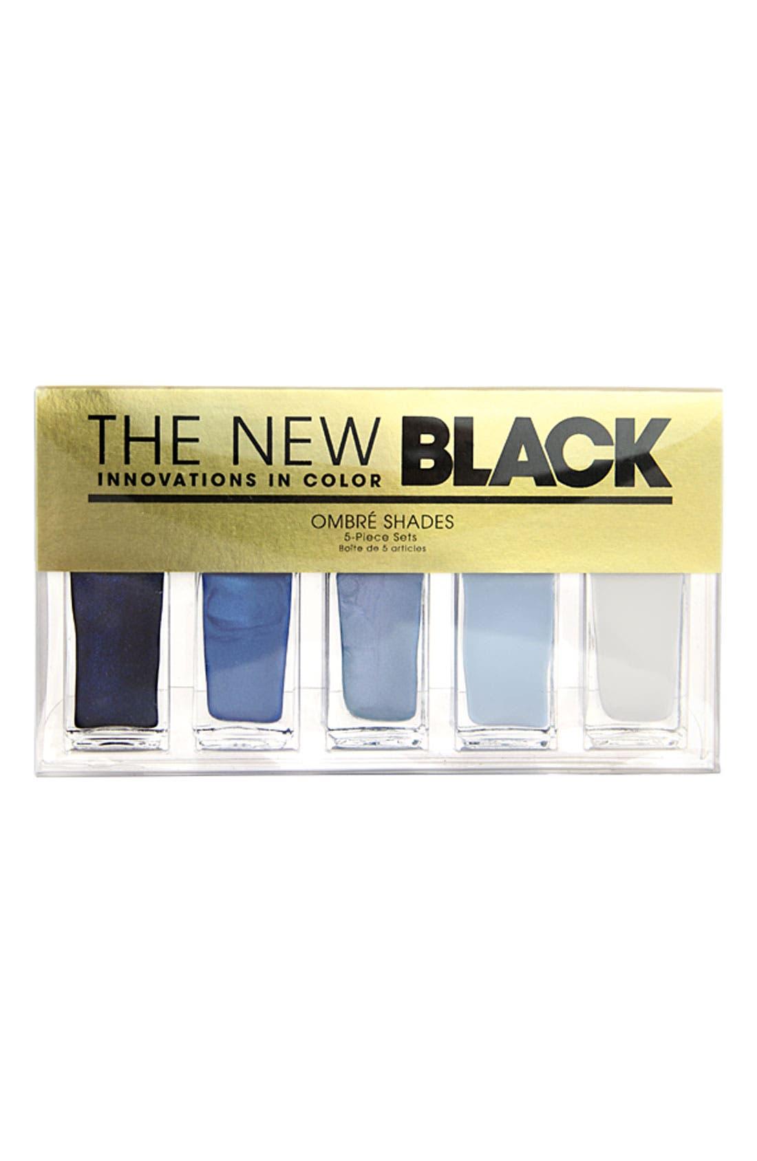 THE NEW BLACK, 'Horizons - Ombré' Nail Polish 5-Piece Set, Alternate thumbnail 2, color, 000