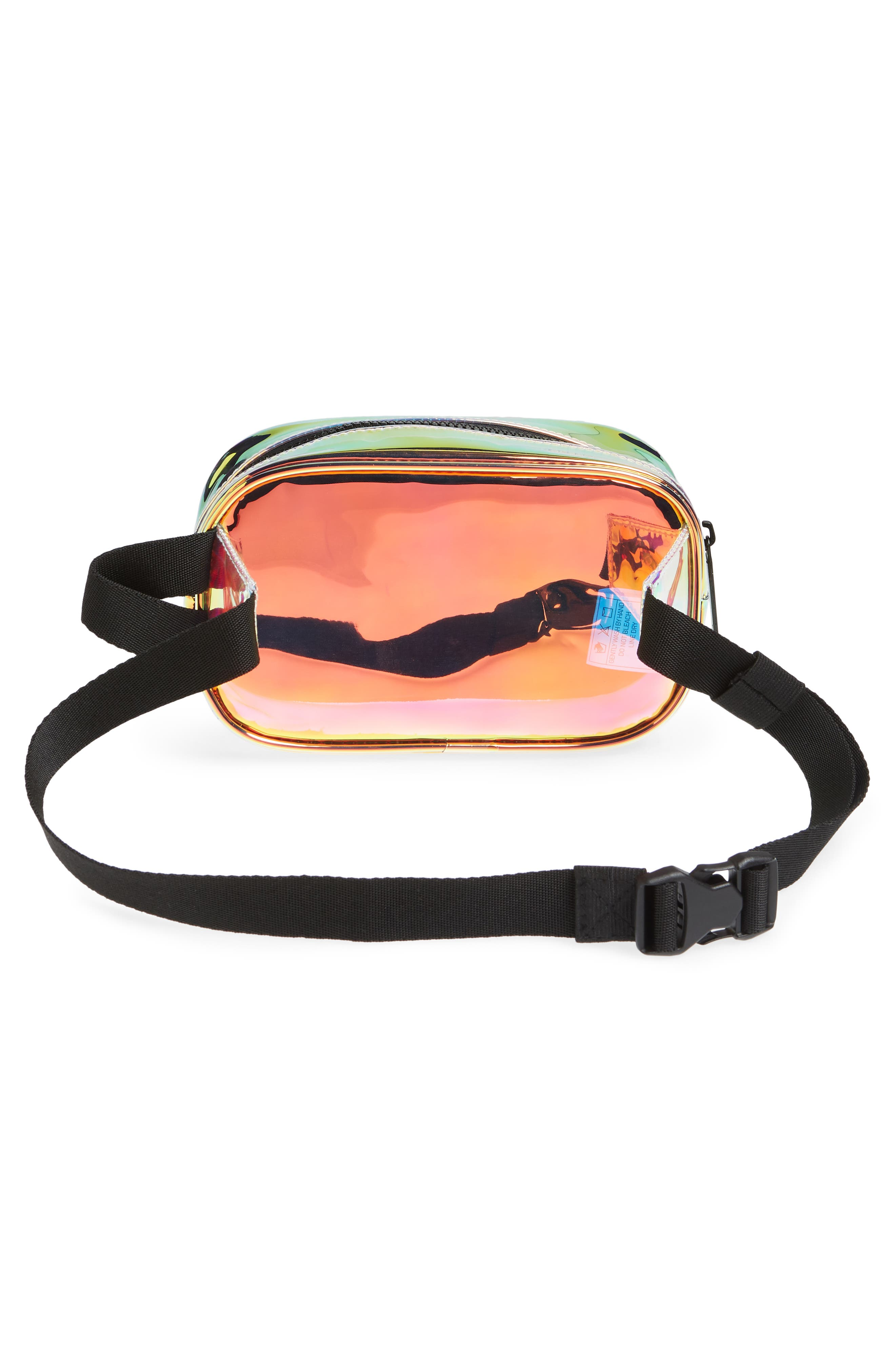 ADIDAS, Ori Holographic Clear Belt Bag, Alternate thumbnail 4, color, 100