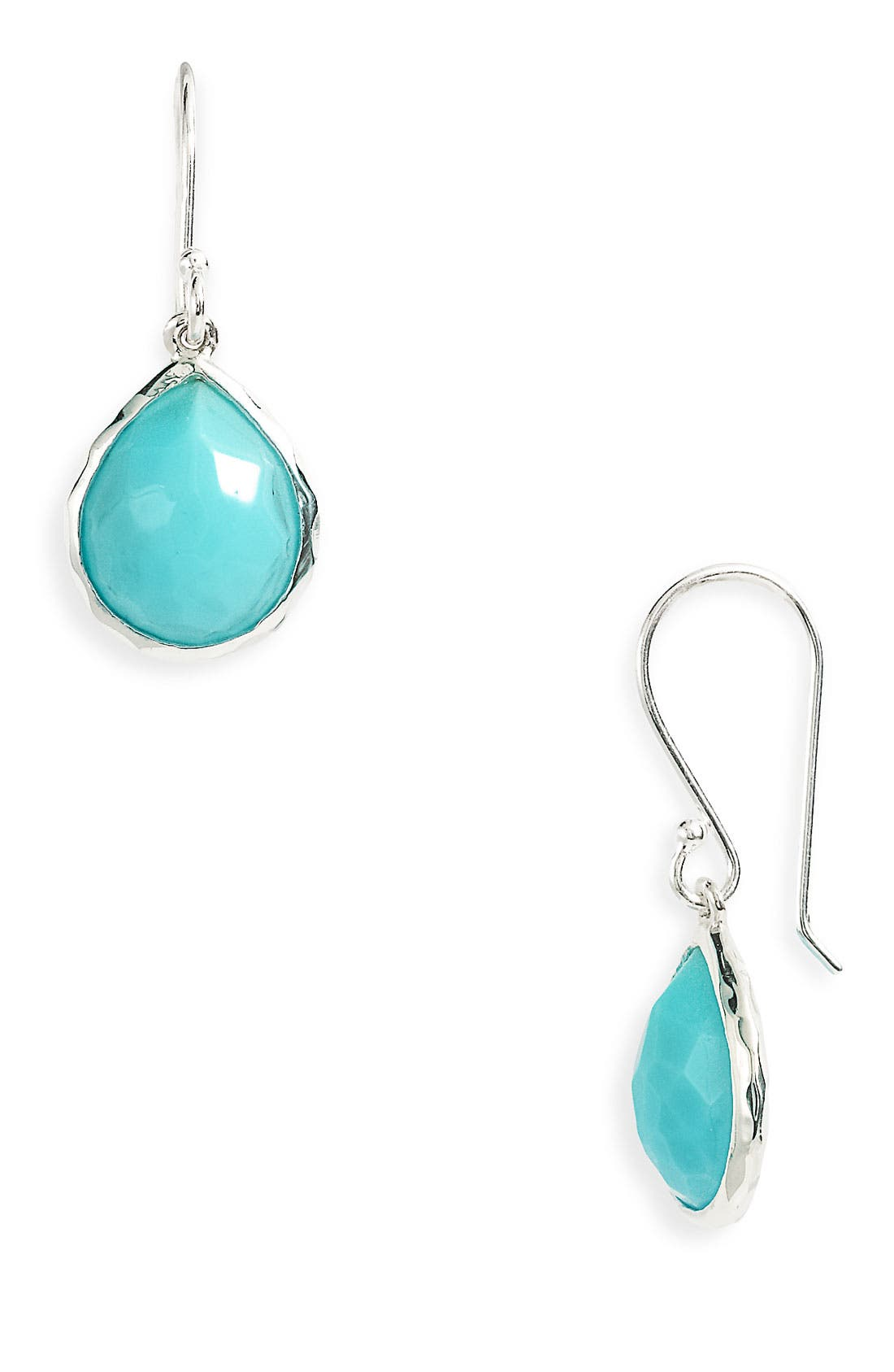 IPPOLITA, 'Rock Candy - Teeny Teardrop' Rosé Earrings, Main thumbnail 1, color, 040