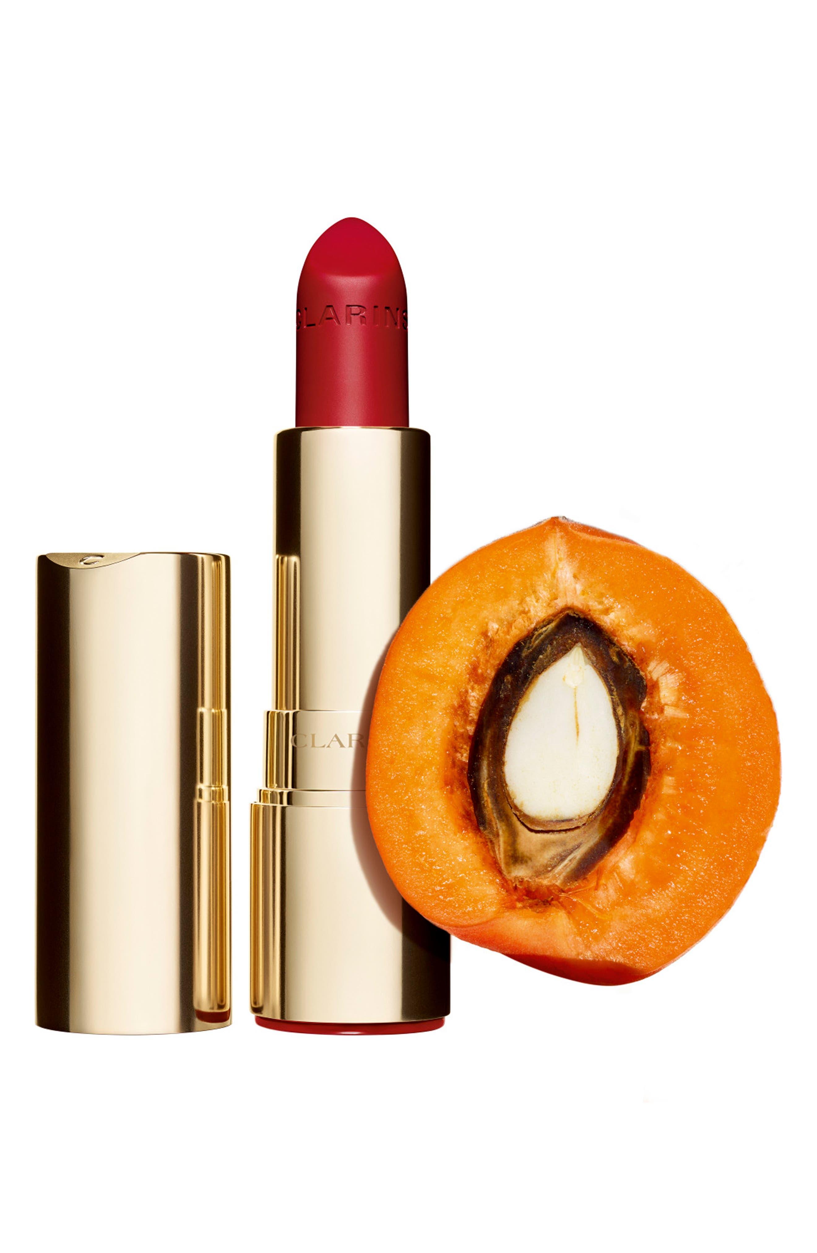 CLARINS, Joli Rouge Velvet Matte Lipstick, Alternate thumbnail 3, color, 737 SPICY CINNAMON
