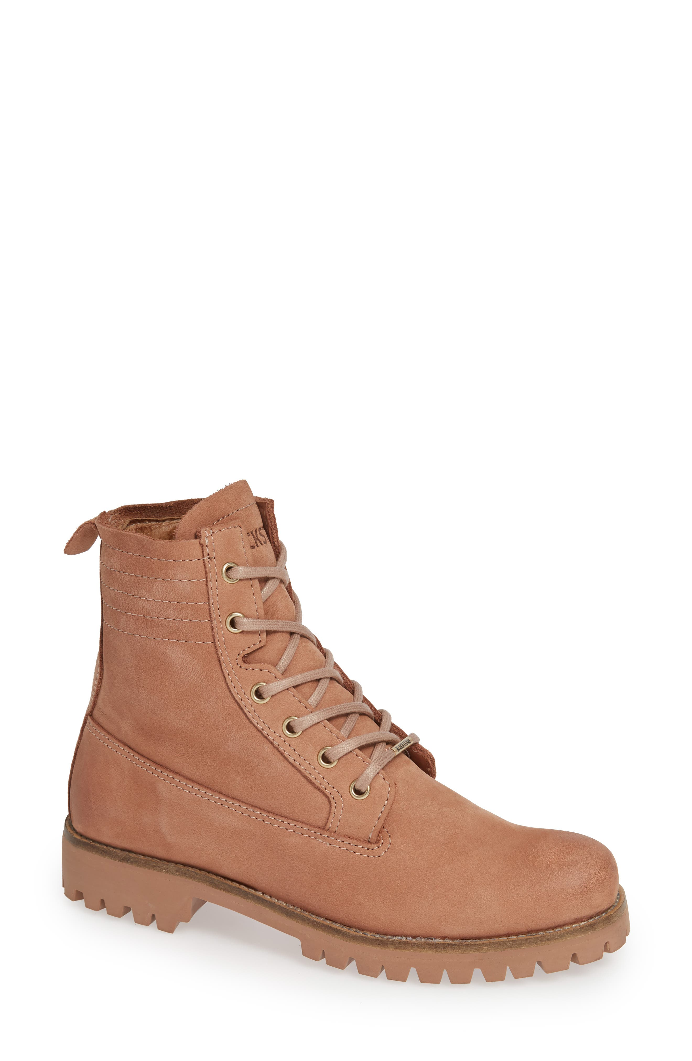 Blackstone Ol23 Lace-Up Boot, Beige