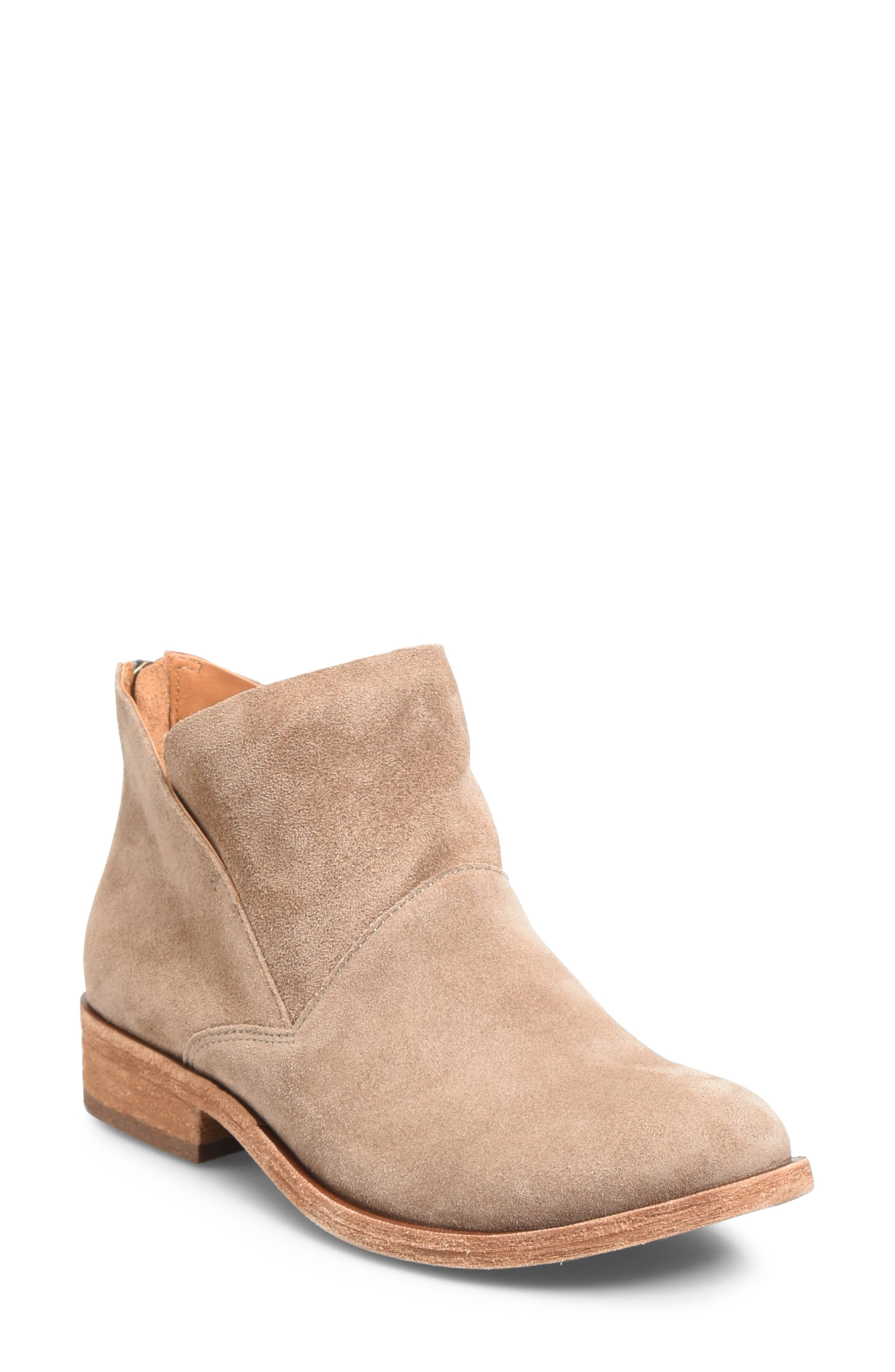 KORK-EASE<SUP>®</SUP>, Ryder Ankle Boot, Main thumbnail 1, color, TAUPE GREY SUEDE