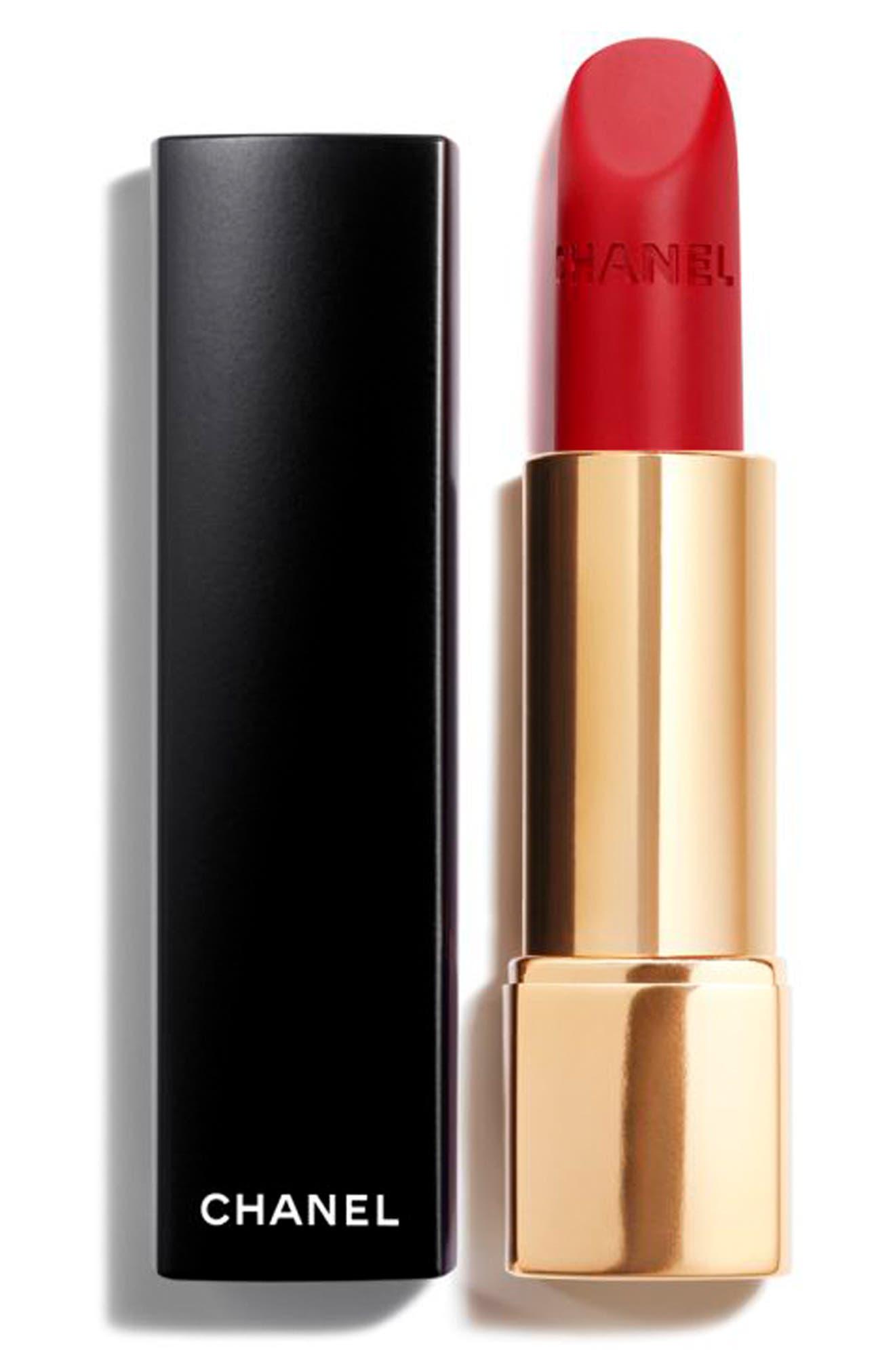 CHANEL, ROUGE ALLURE VELVET<br />Luminous Matte Lip Color, Main thumbnail 1, color, 56 ROUGE CHARNEL