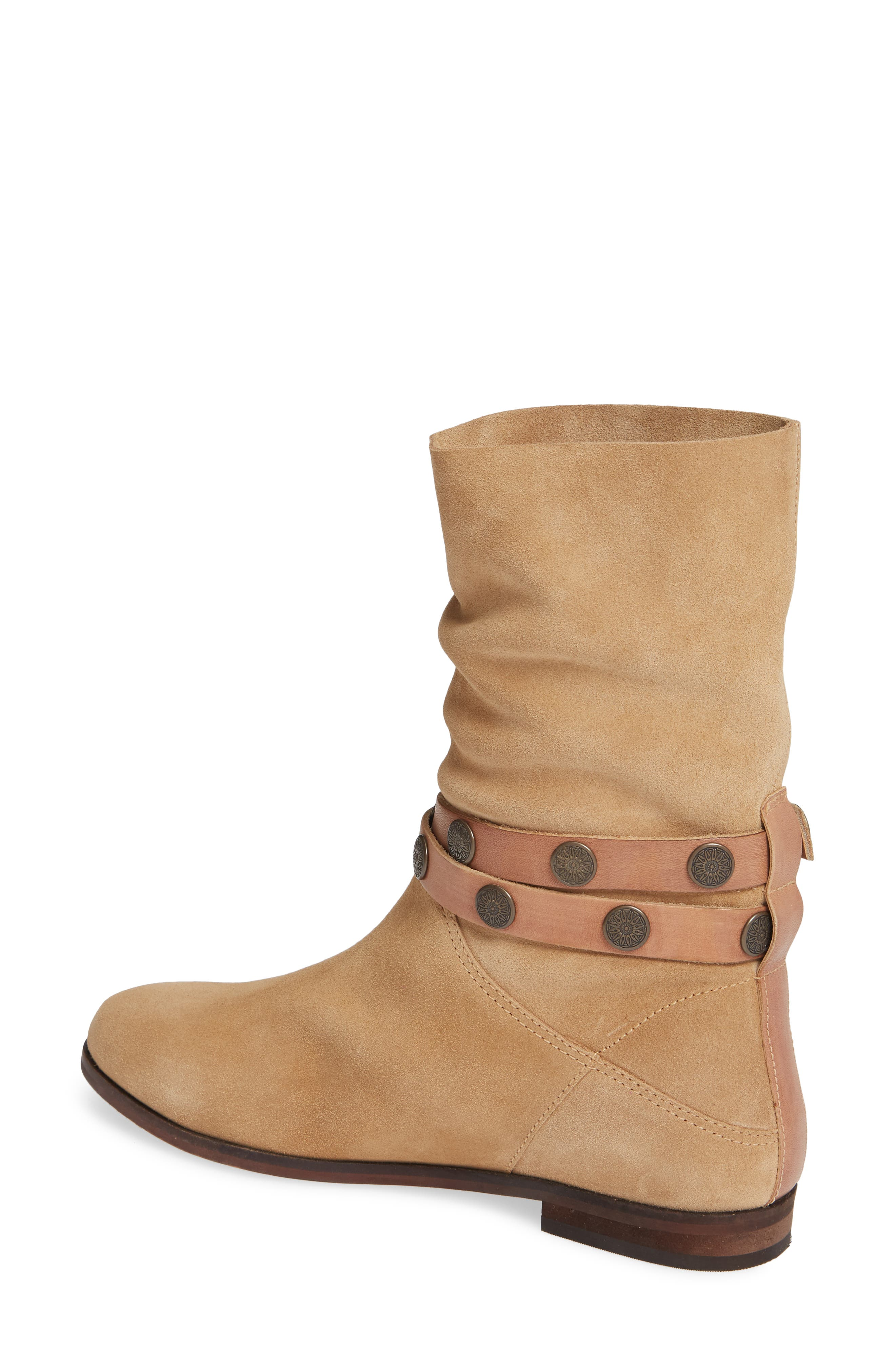 FREE PEOPLE, Hayden Buckle Strap Boot, Alternate thumbnail 2, color, SAND SUEDE