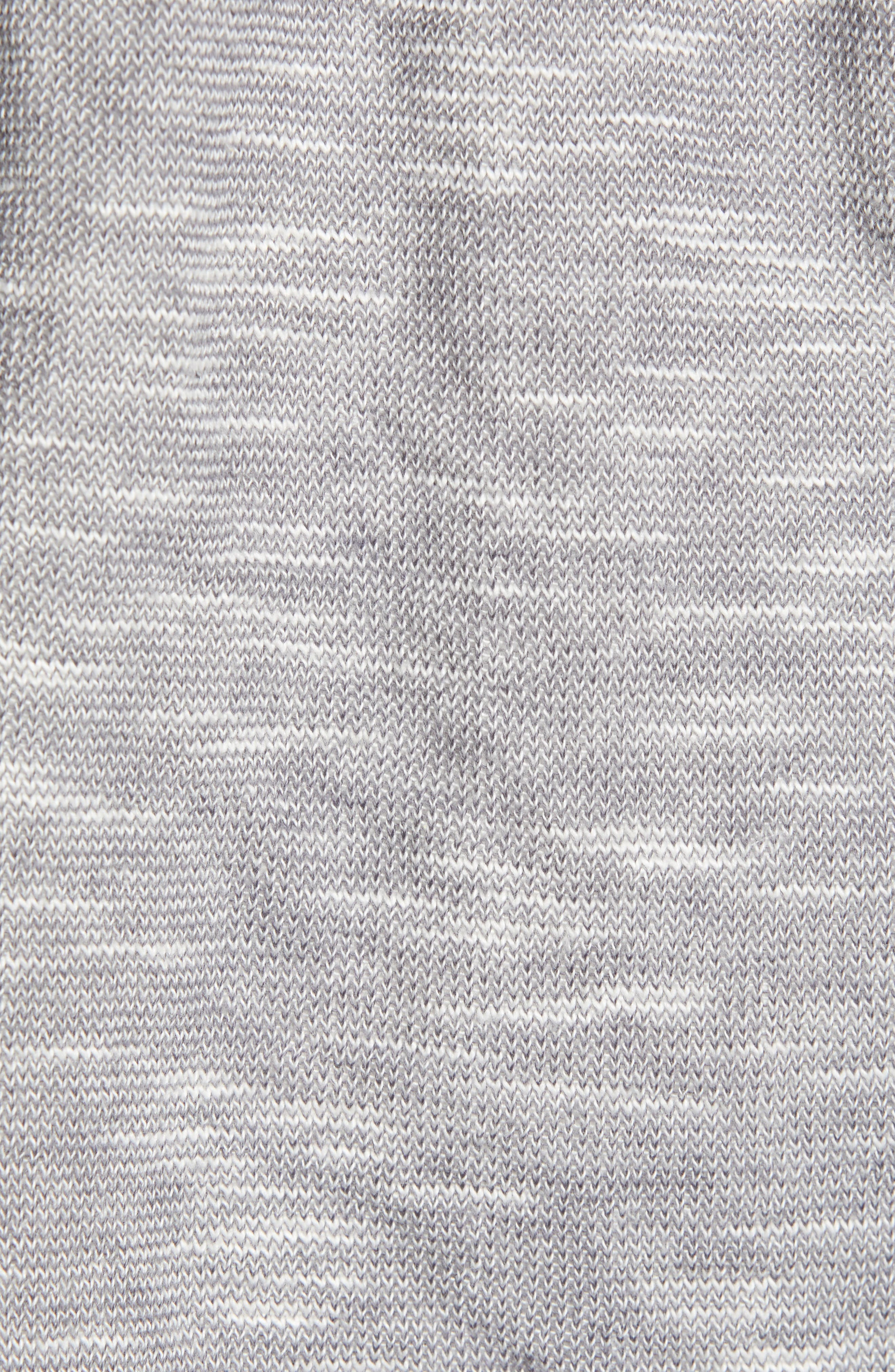 CASLON<SUP>®</SUP>, Open Front Hooded Cardigan, Alternate thumbnail 7, color, GREY- IVORY SPACEDYE