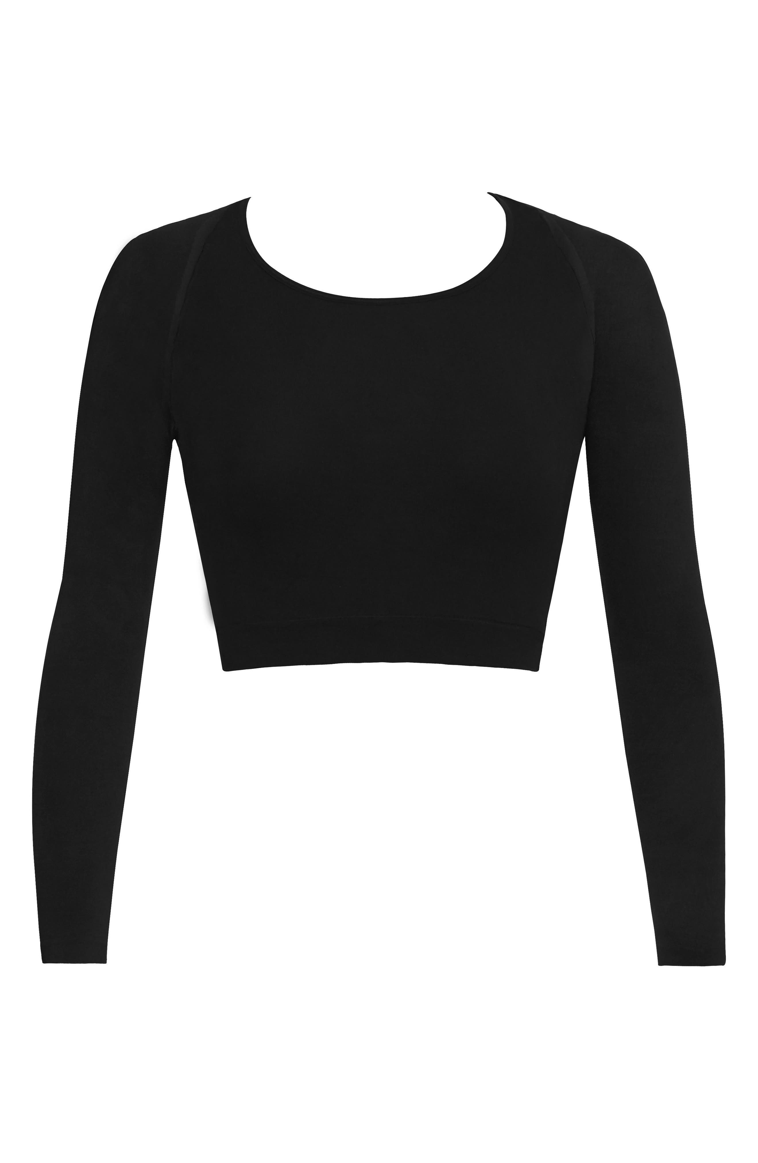 SPANX<SUP>®</SUP>, Arm Tights<sup>®</sup> Layering Piece, Alternate thumbnail 6, color, VERY BLACK
