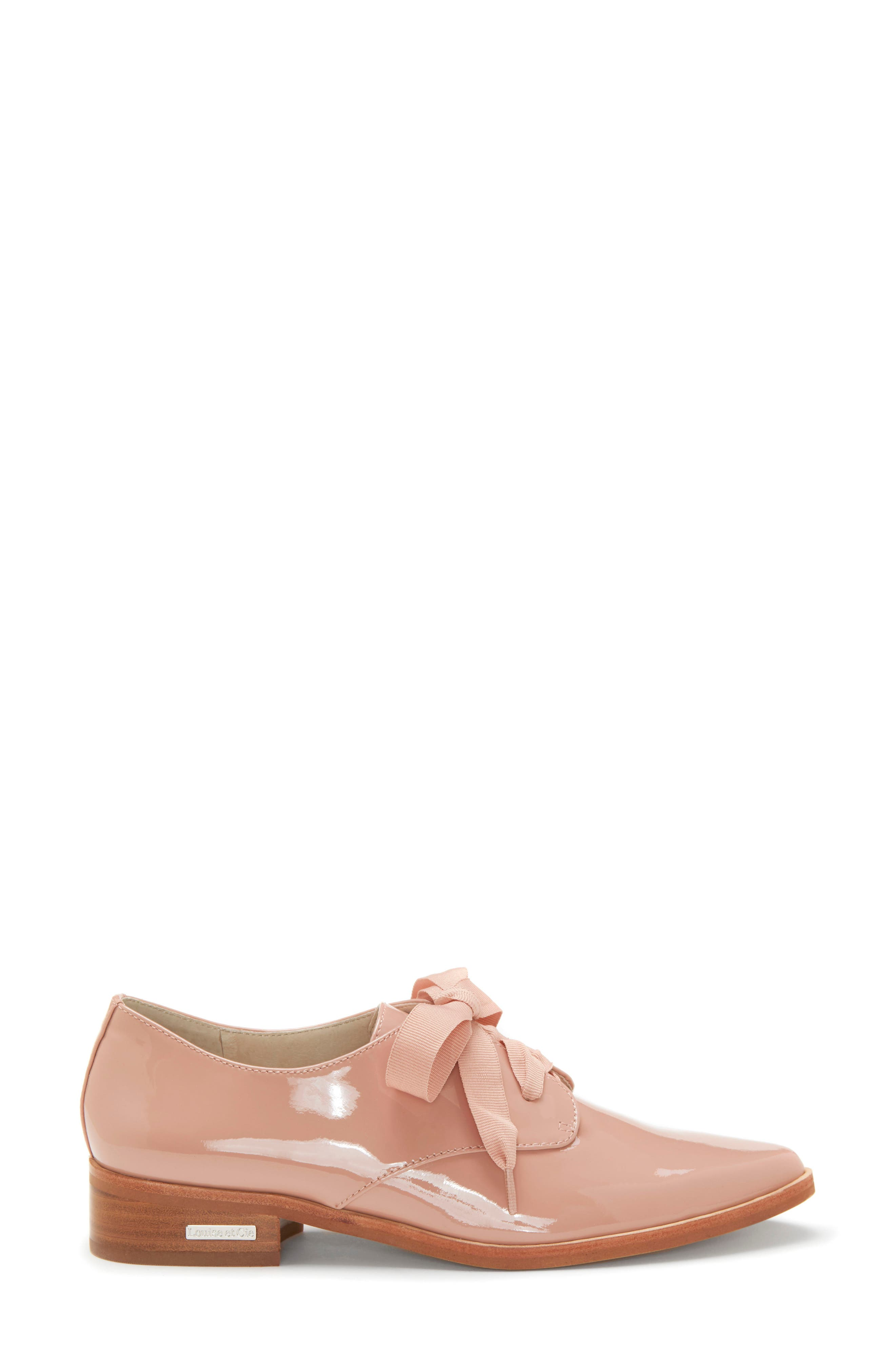 LOUISE ET CIE, Adwin Almond Toe Oxford, Alternate thumbnail 3, color, FOUNDATION PATENT