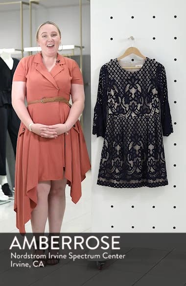 Bell Sleeve Lace Fit & Flare Dress, sales video thumbnail