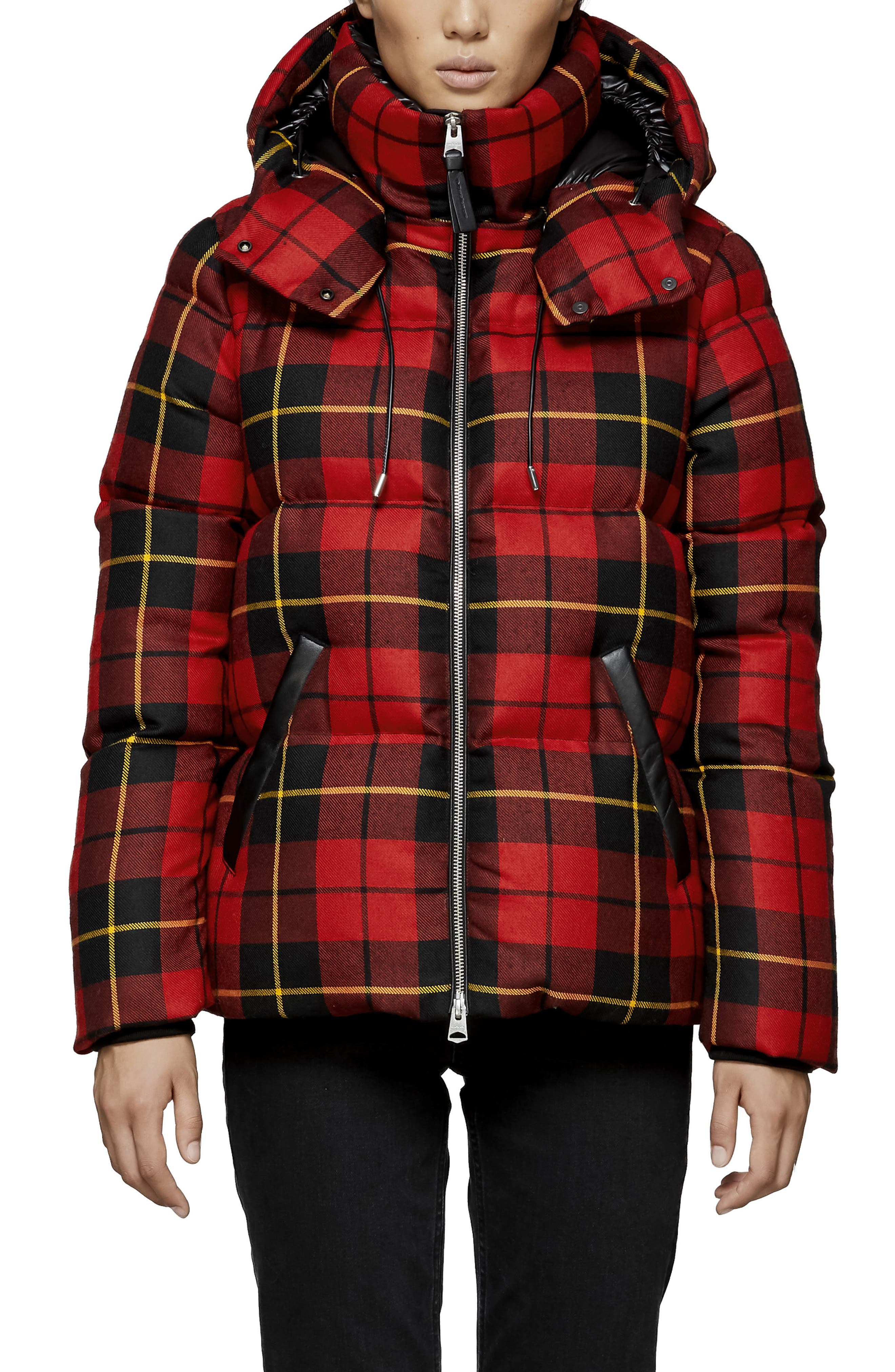 MACKAGE, Miley Wool Down Puffer Jacket, Main thumbnail 1, color, RED