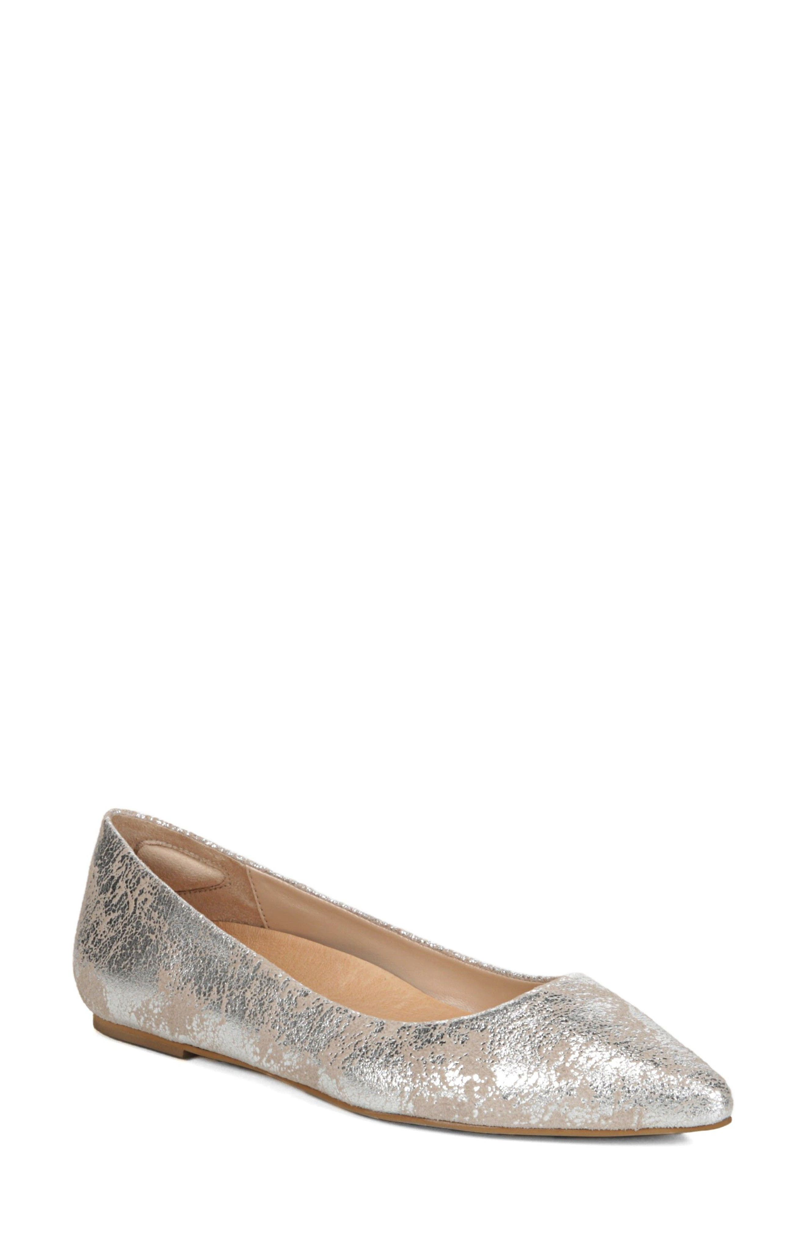 DR. SCHOLL'S, Original Collection Kimber Flat, Main thumbnail 1, color, PEWTER LEATHER