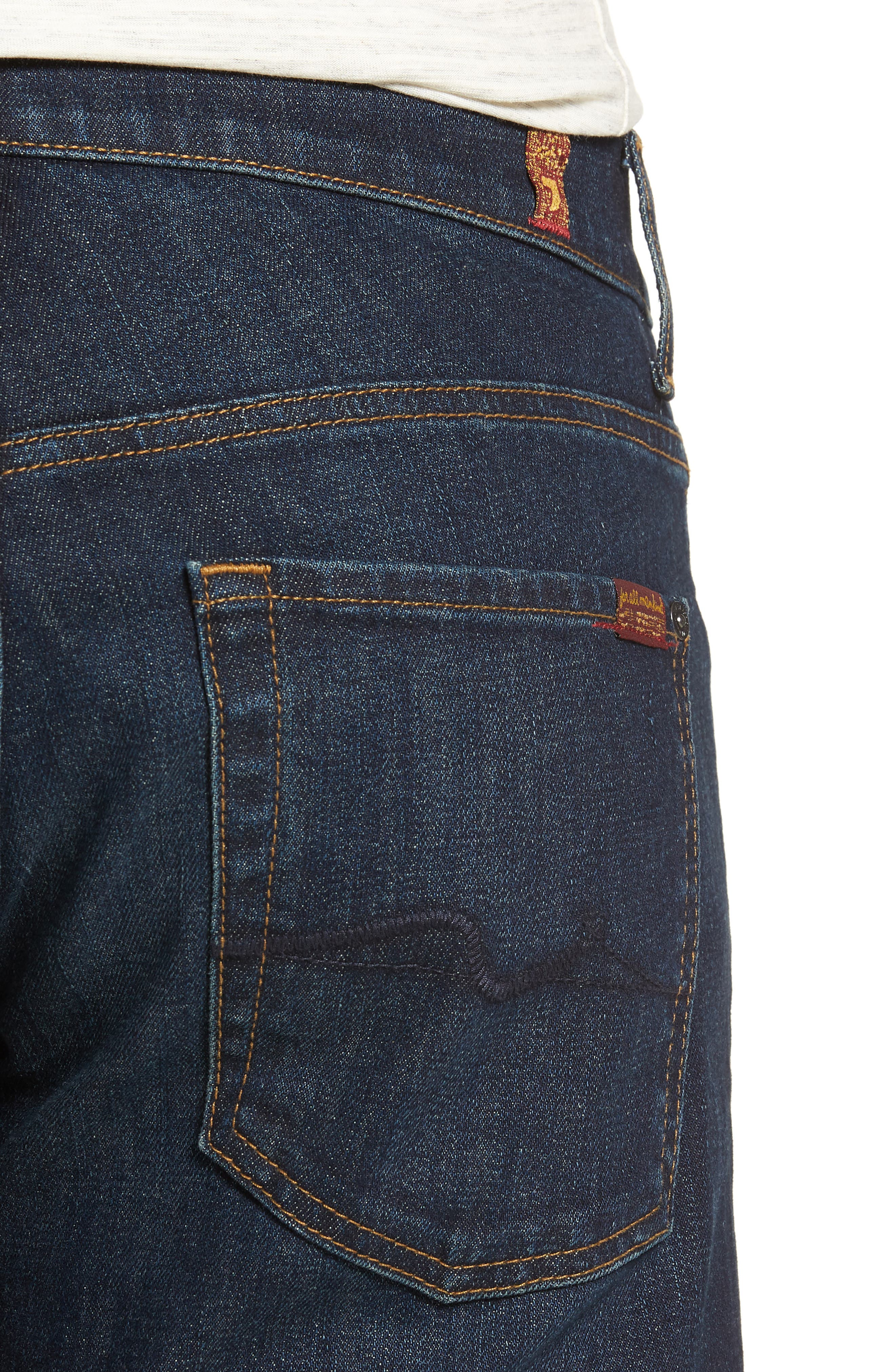 7 FOR ALL MANKIND<SUP>®</SUP>, Austyn Relaxed Straight Leg Jeans, Alternate thumbnail 5, color, ABERDEEN