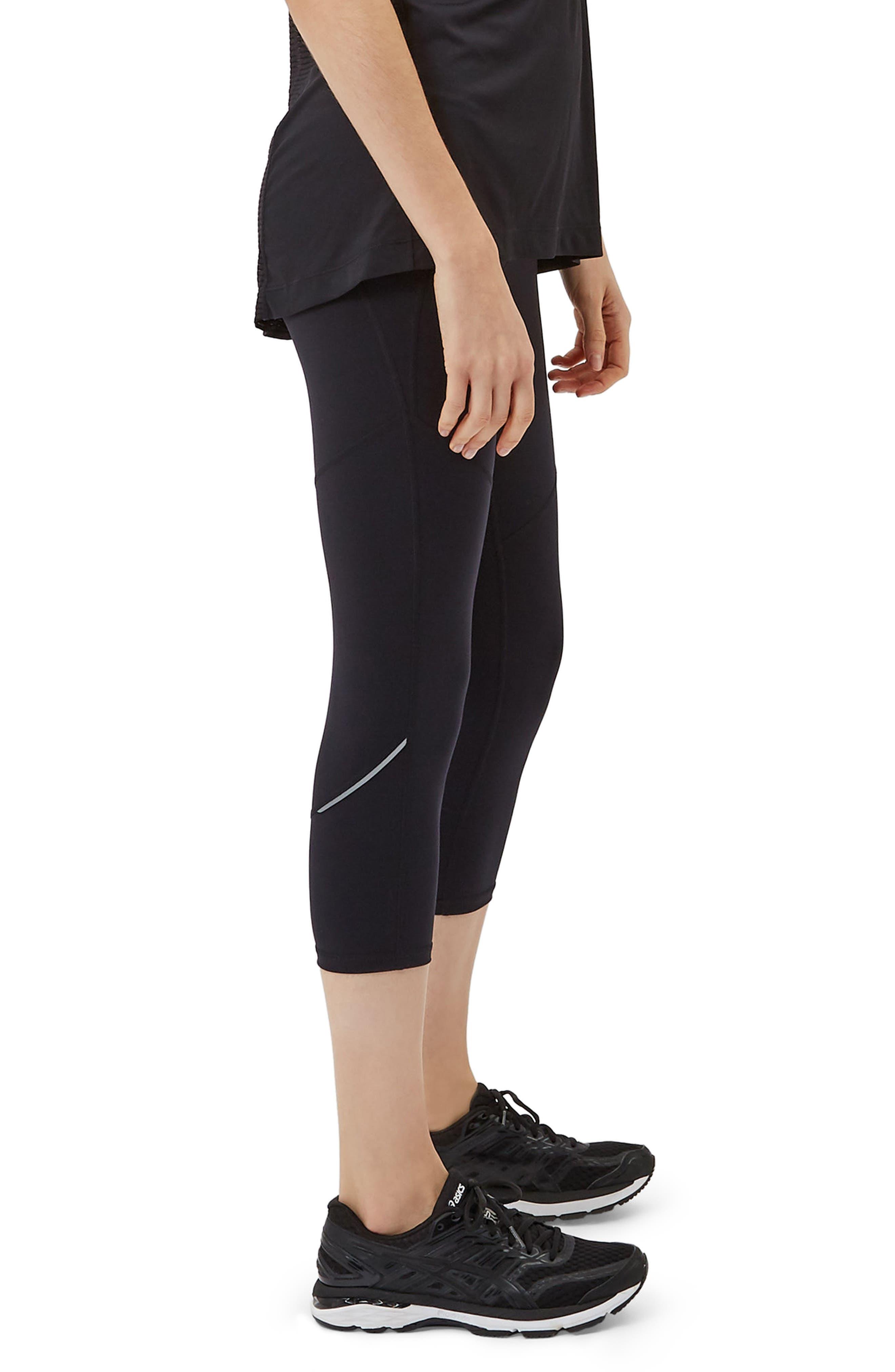 SWEATY BETTY, Power Workout Crop Leggings, Alternate thumbnail 5, color, BLACK
