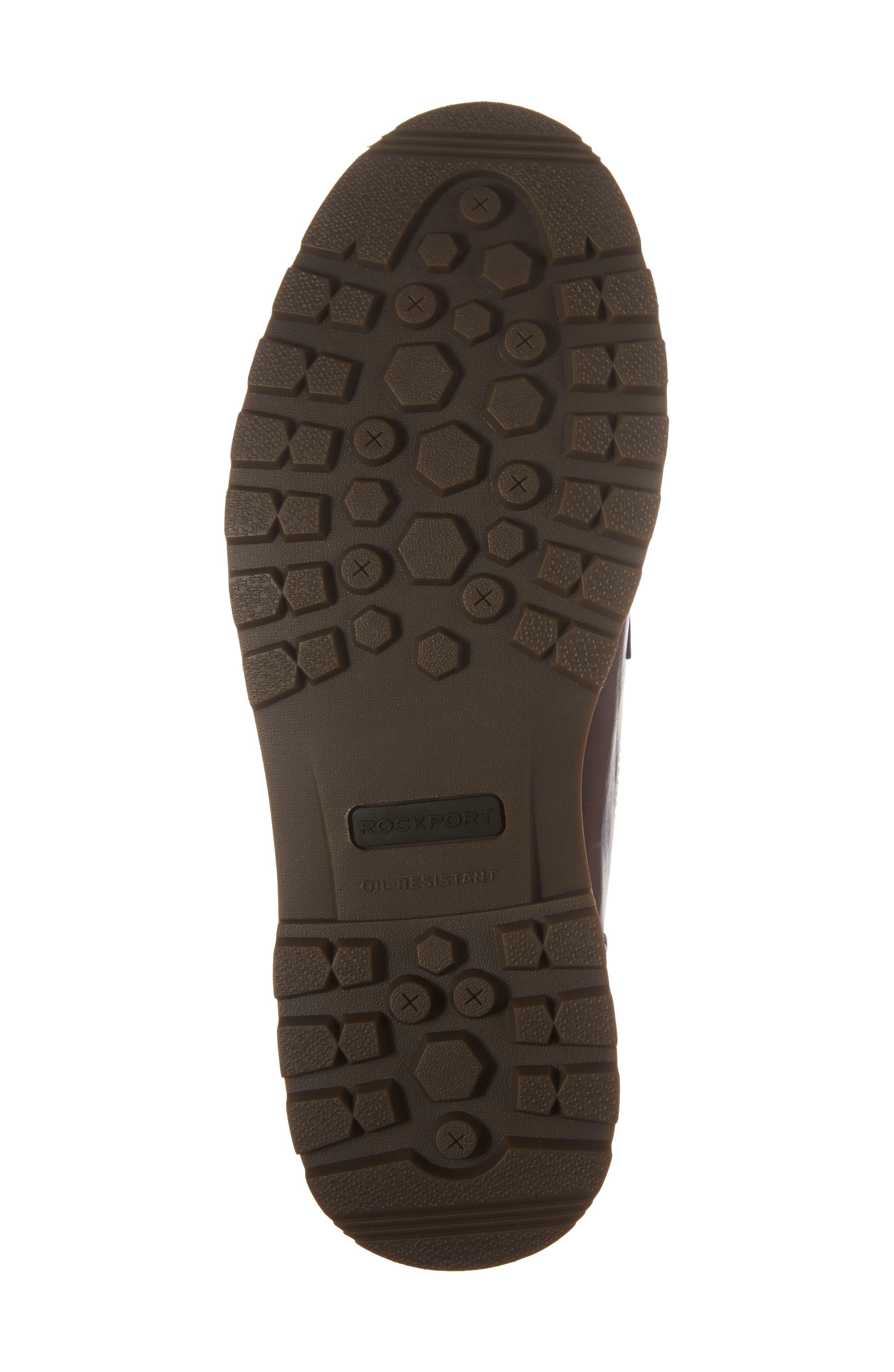 DUNHAM, Royalton Plain Toe Boot, Alternate thumbnail 6, color, BROWN
