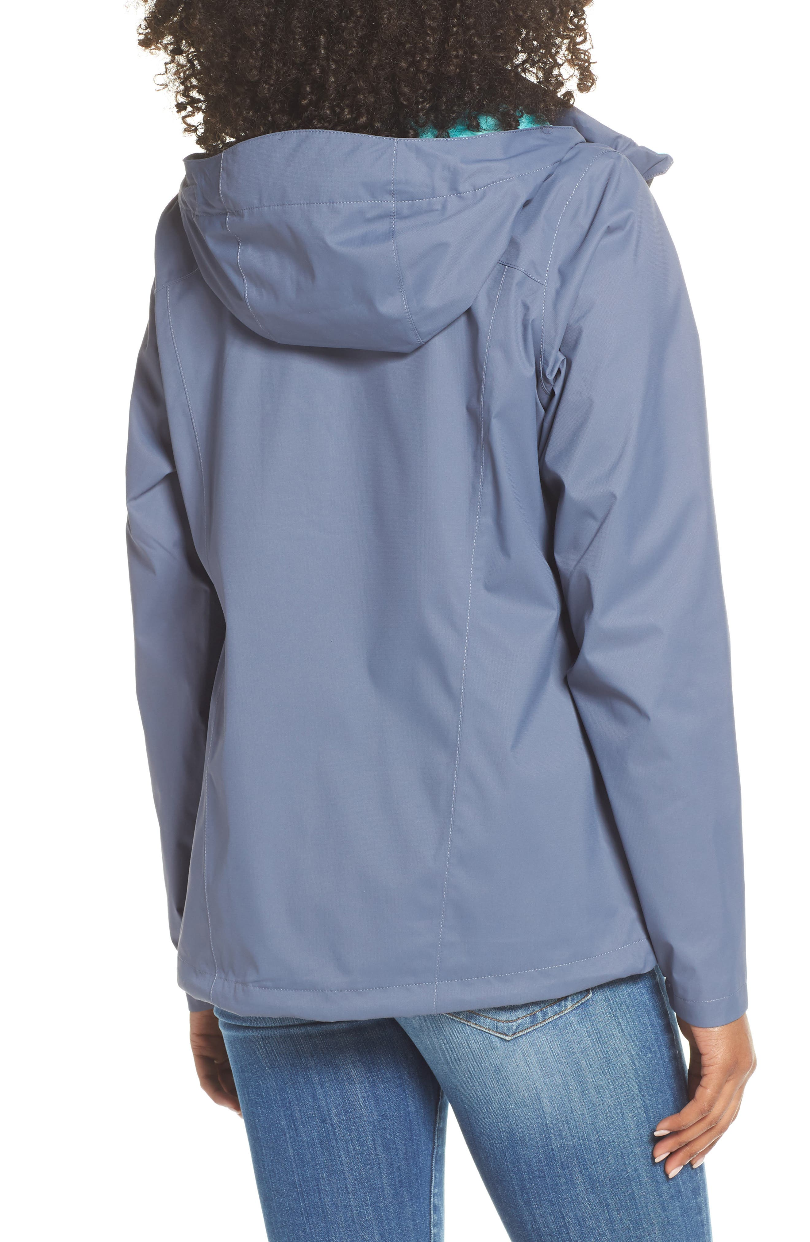 THE NORTH FACE, Resolve Plus Waterproof Jacket, Alternate thumbnail 2, color, GRISAILLE GREY/ GRISAILLE GREY