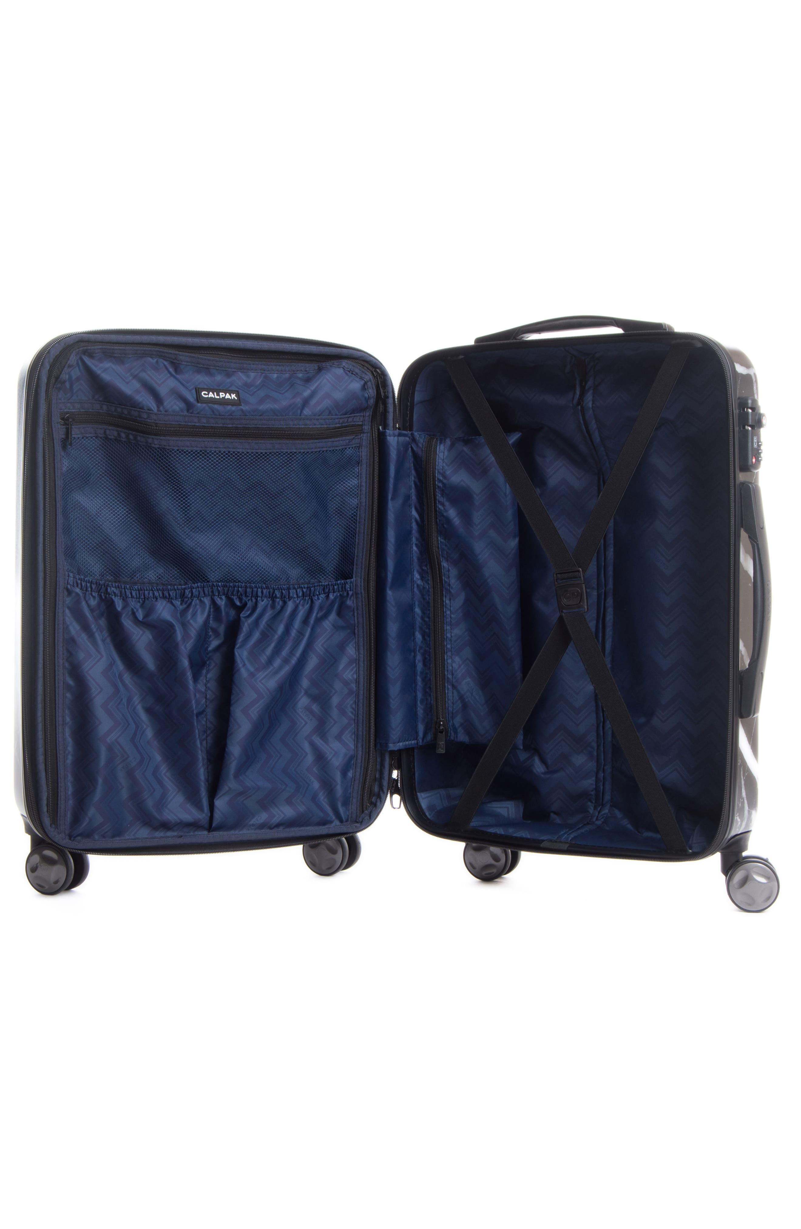 CALPAK, Astyll 22-Inch Rolling Spinner Suitcase, Alternate thumbnail 2, color, MIDNIGHT MARBLE