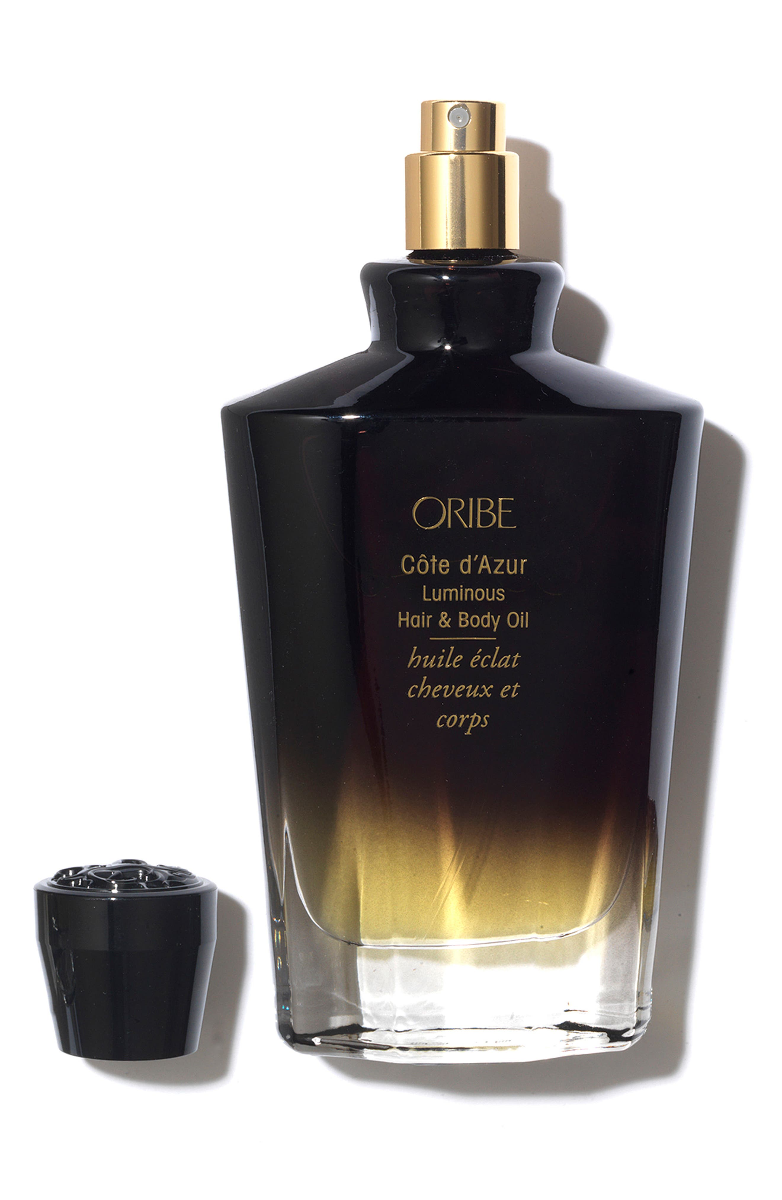 ORIBE, SPACE.NK.apothecary Oribe Côte d'Azur Luminous Hair & Body Oil, Alternate thumbnail 2, color, 000