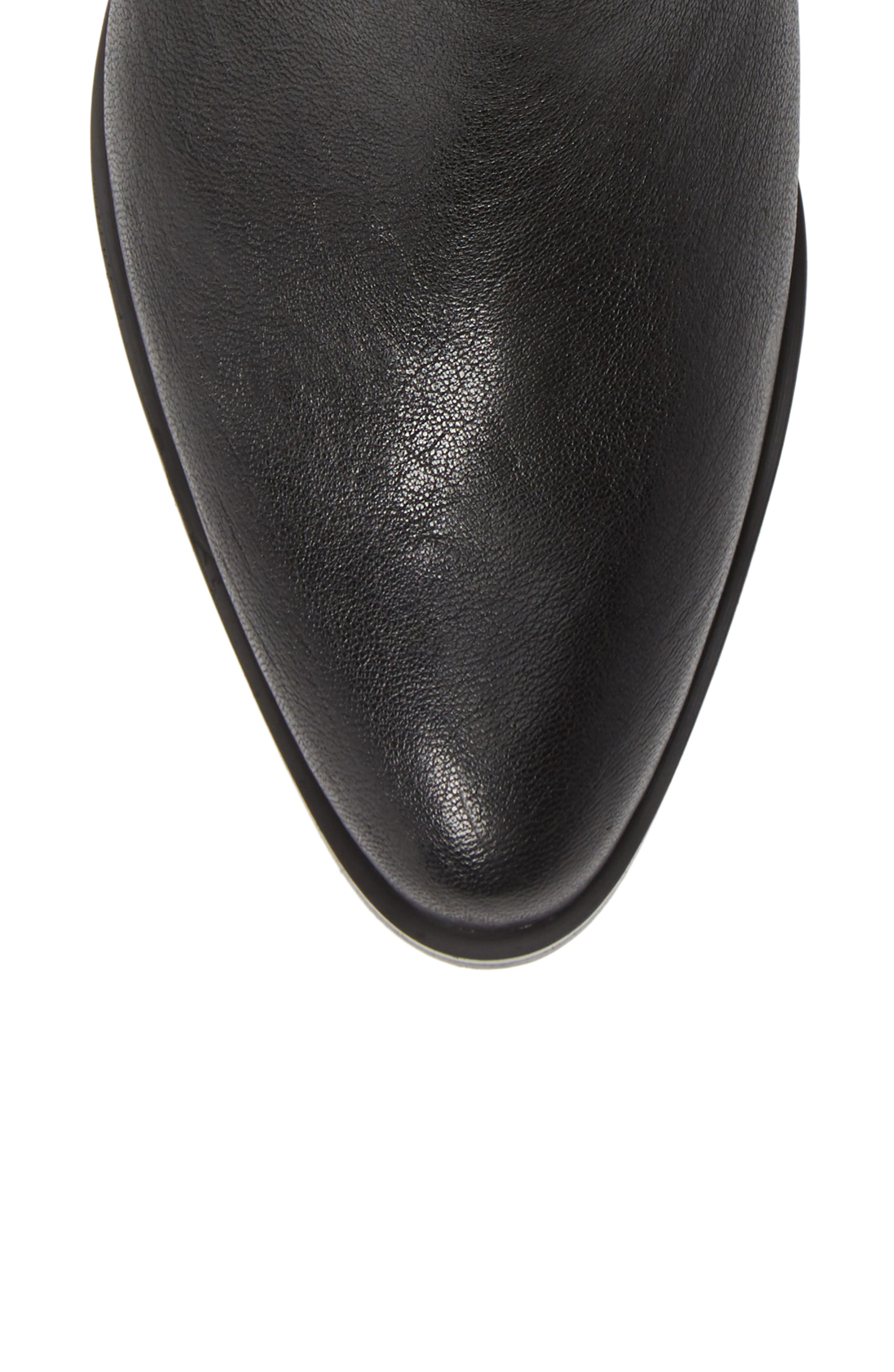 ISOLÁ, Isola Mosina Bootie, Alternate thumbnail 5, color, BLACK LEATHER