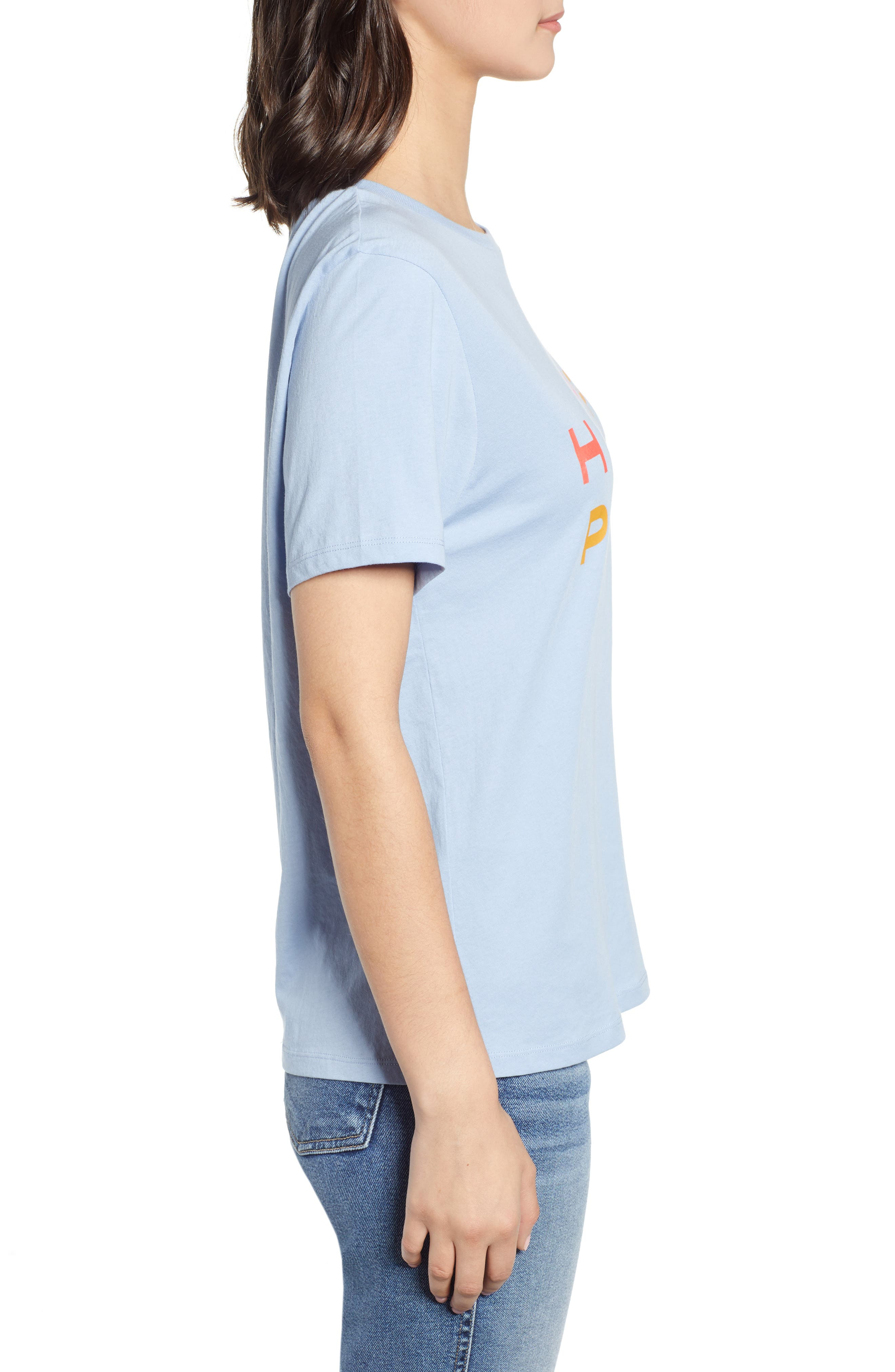 BAN.DO, Happy Place Classic Tee, Alternate thumbnail 3, color, LIGHT BLUE