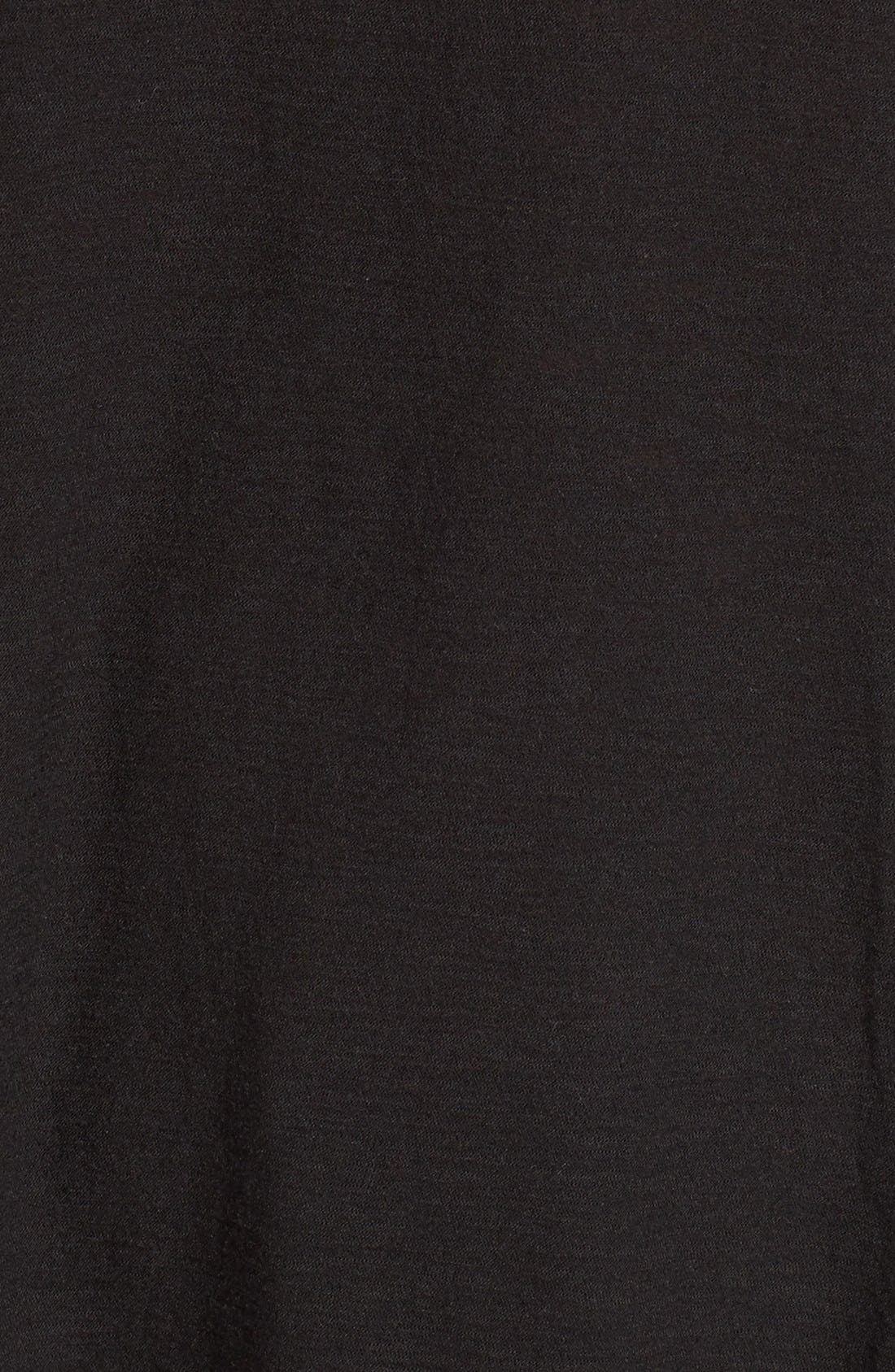 MICHELLE BY COMUNE, Knightsbridge Split Side Tunic, Alternate thumbnail 5, color, 001