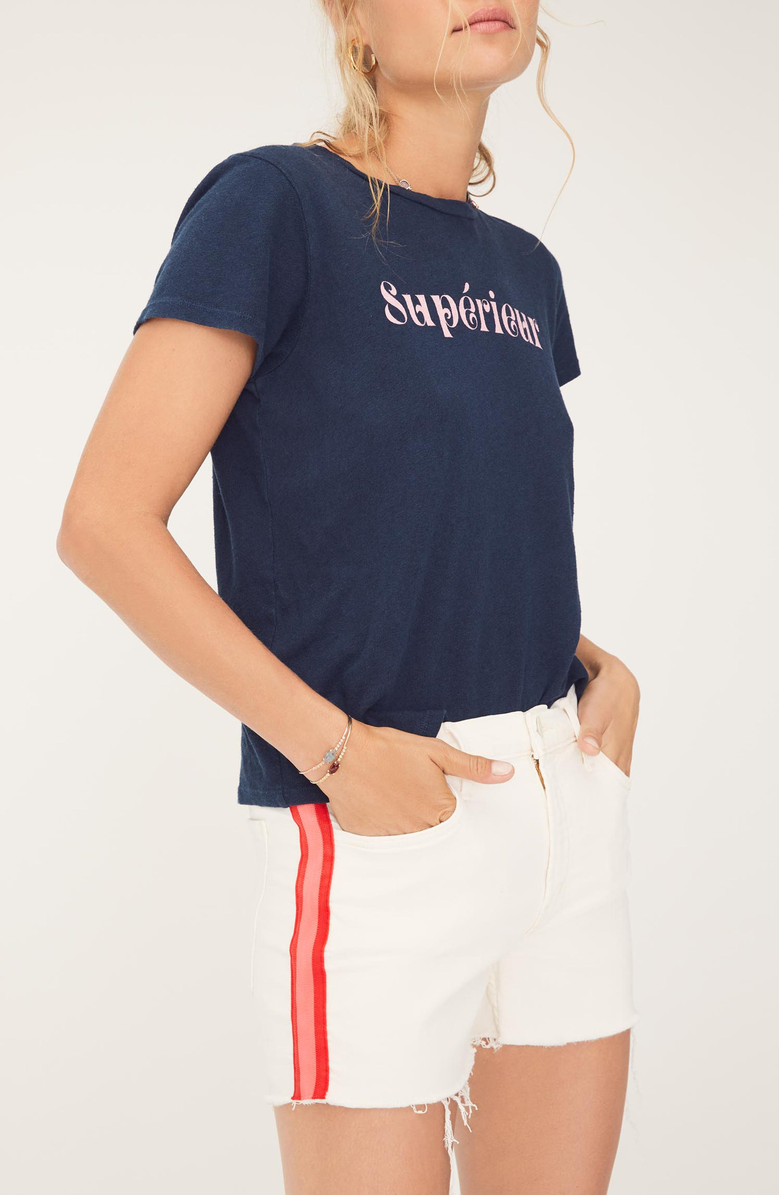 MOTHER, The Sinful Supérieur Tee, Alternate thumbnail 5, color, SUPERIUER NAVY