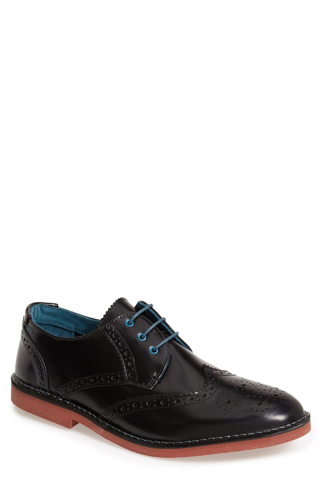 TED BAKER LONDON, 'Joorge' Wingtip, Main thumbnail 1, color, 003