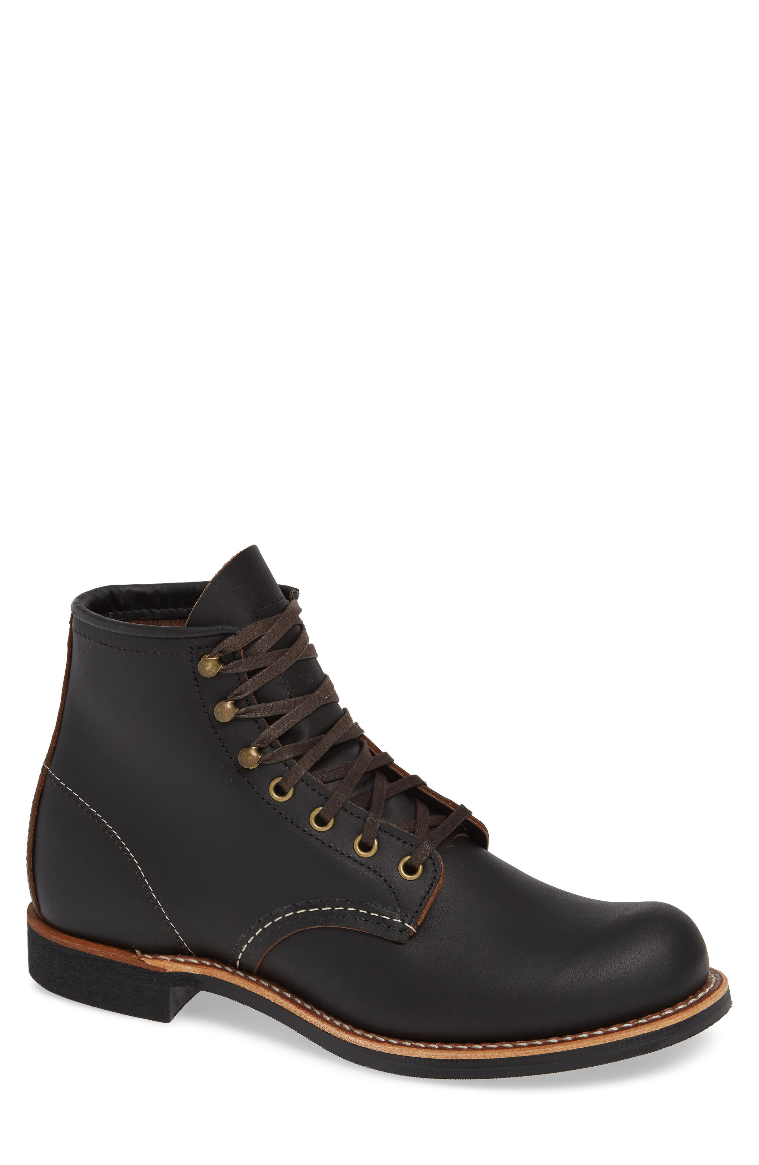 RED WING Blacksmith Boot, Main, color, BLACK LEATHER
