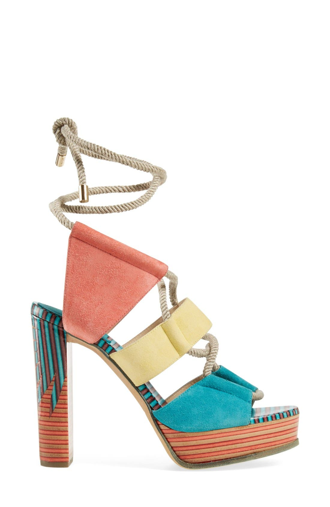 JIMMY CHOO, 'Halley' Platform Sandal, Alternate thumbnail 2, color, 400