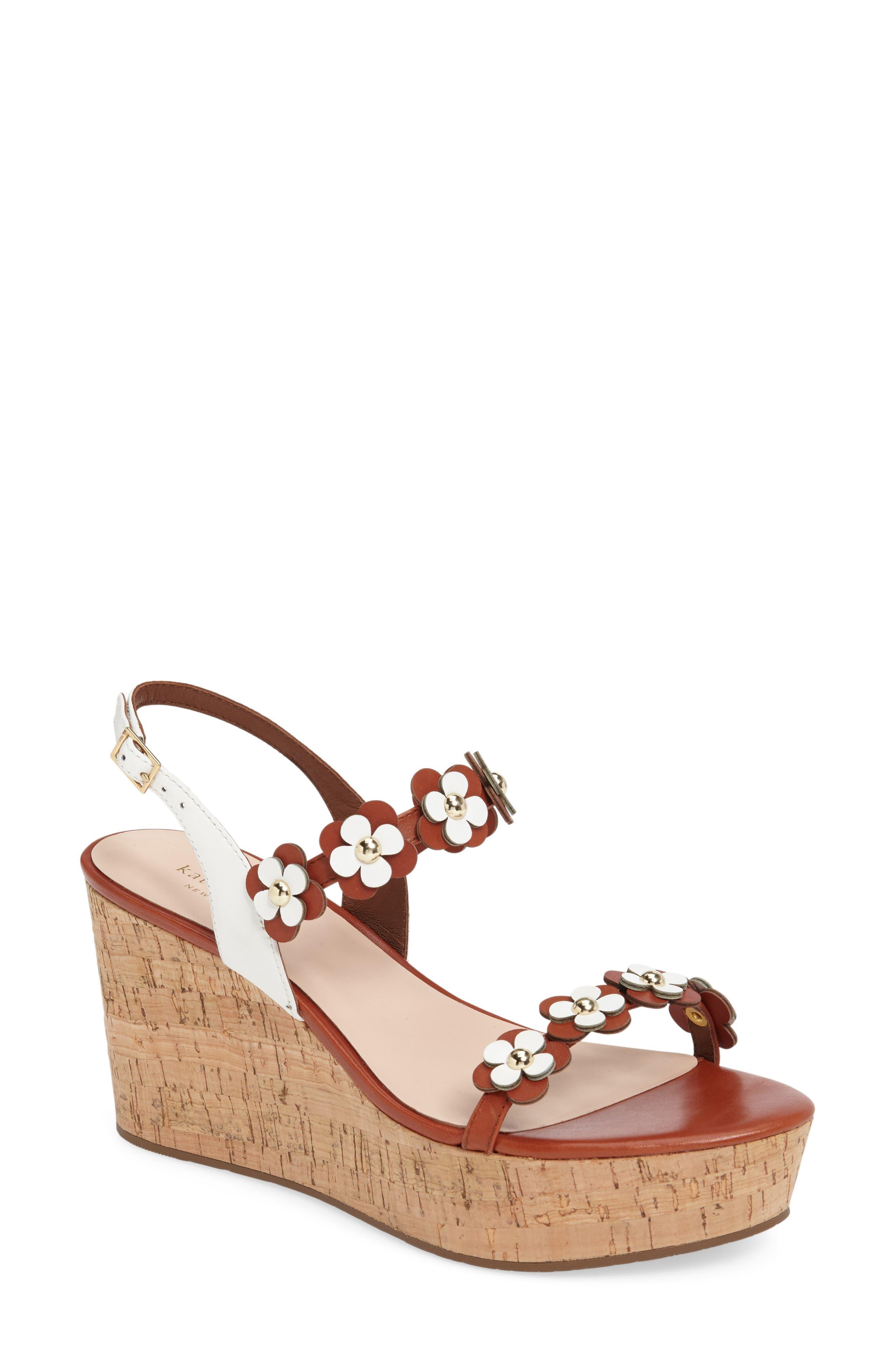 KATE SPADE NEW YORK tisdale platform wedge sandal, Main, color, 200