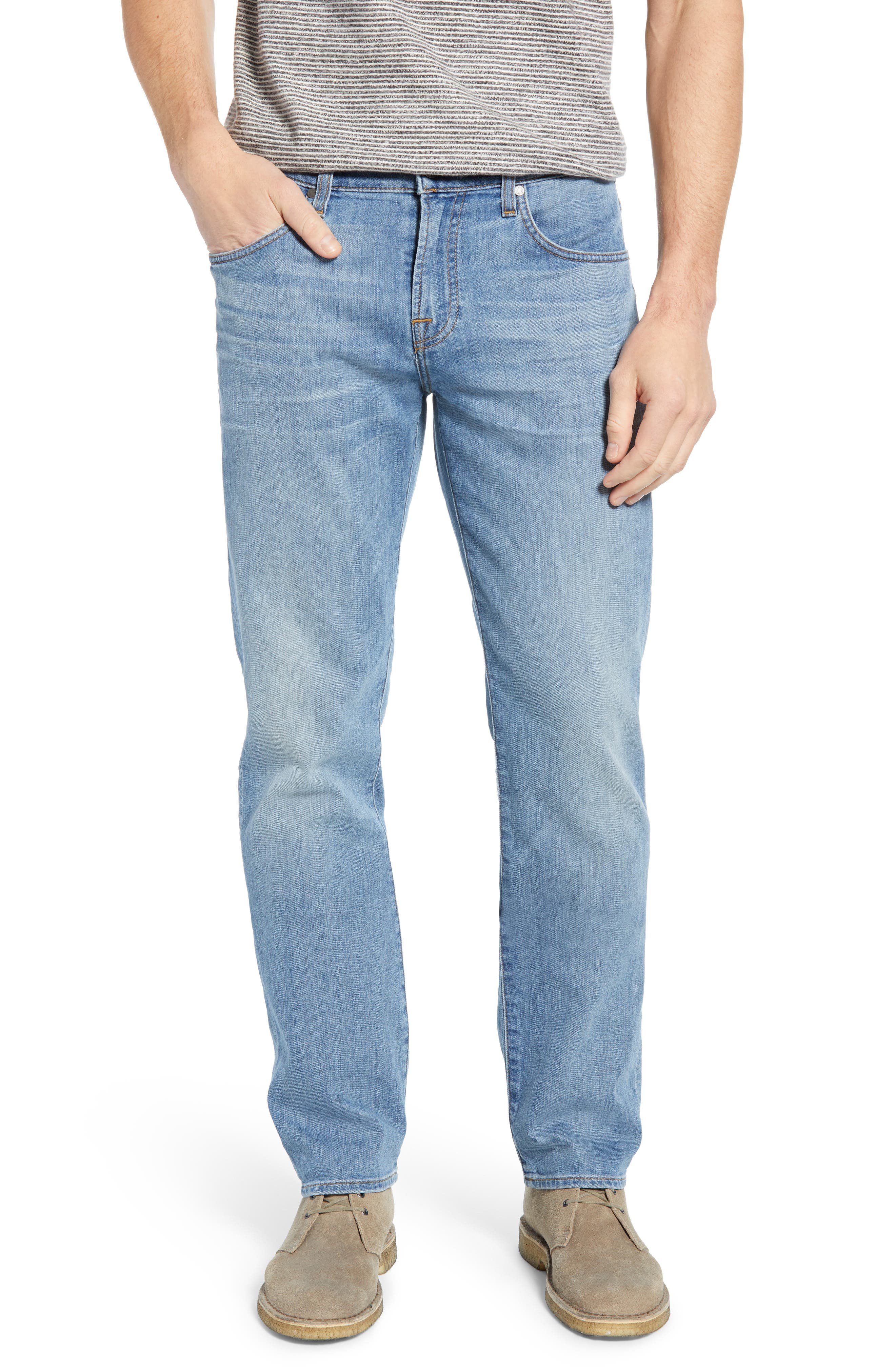 7 FOR ALL MANKIND<SUP>®</SUP>, Slim Straight Leg Jeans, Main thumbnail 1, color, INTREPID
